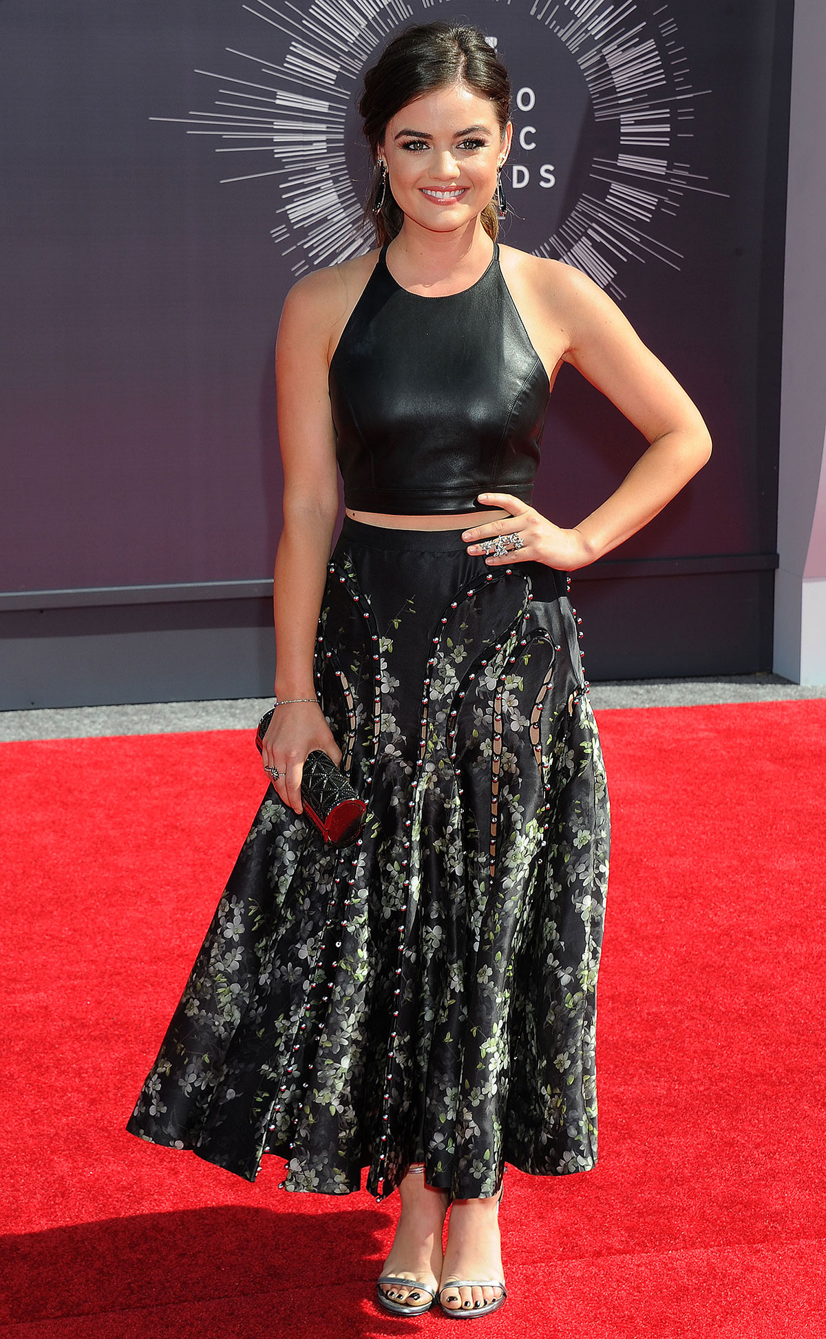 Lucy Hale attends 2014 MTV Video Music Awards