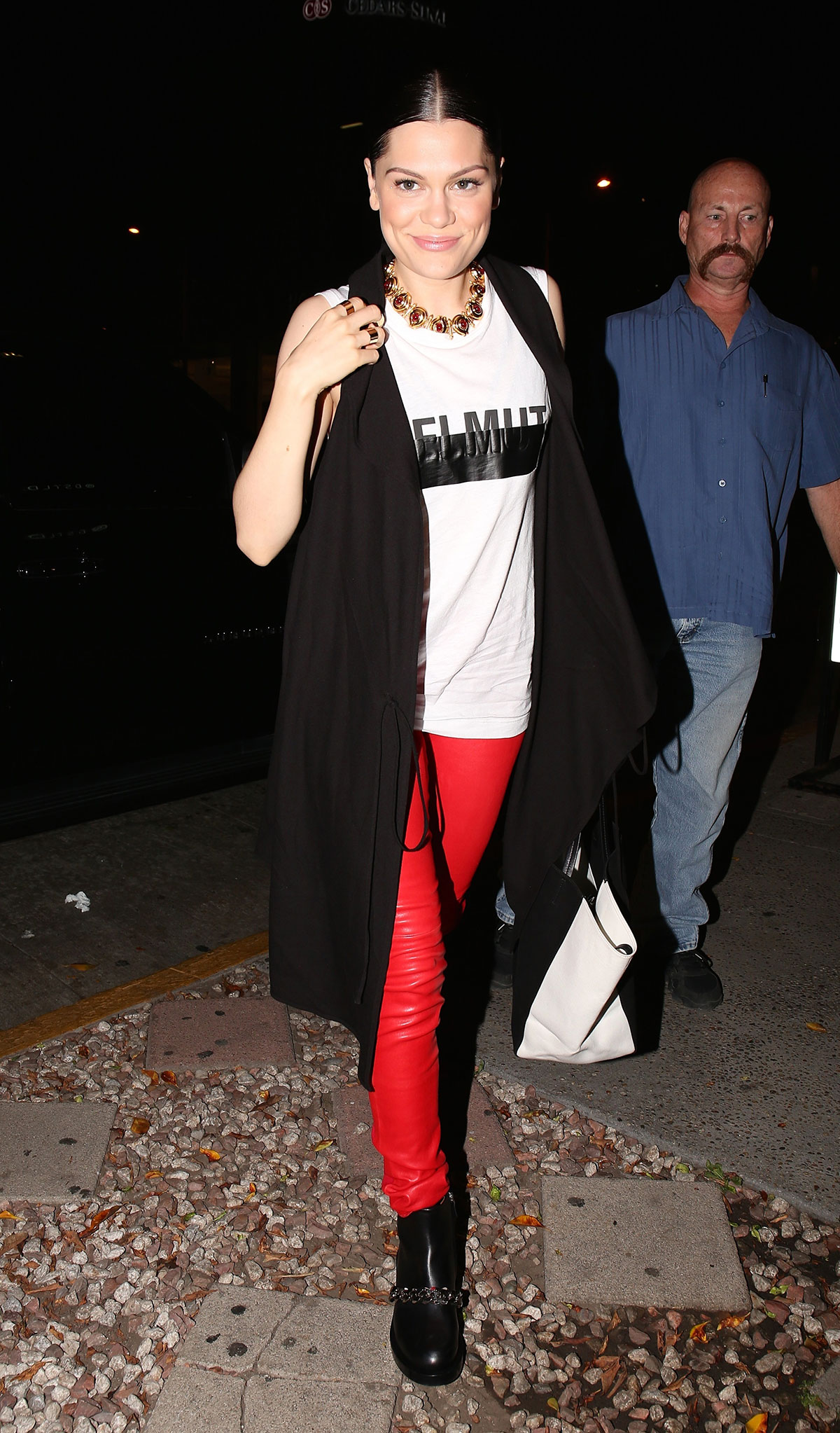Jessie J arrives at Madeo restaurant