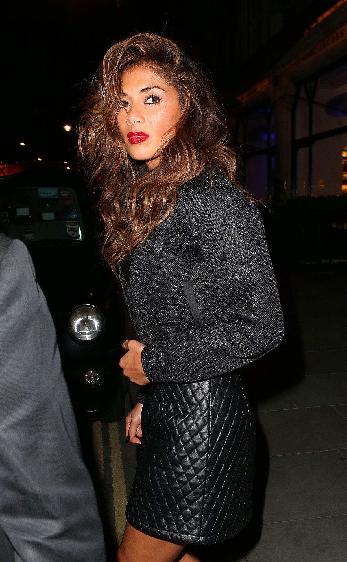 Nicole Scherzinger leaving Scotts Restaurant