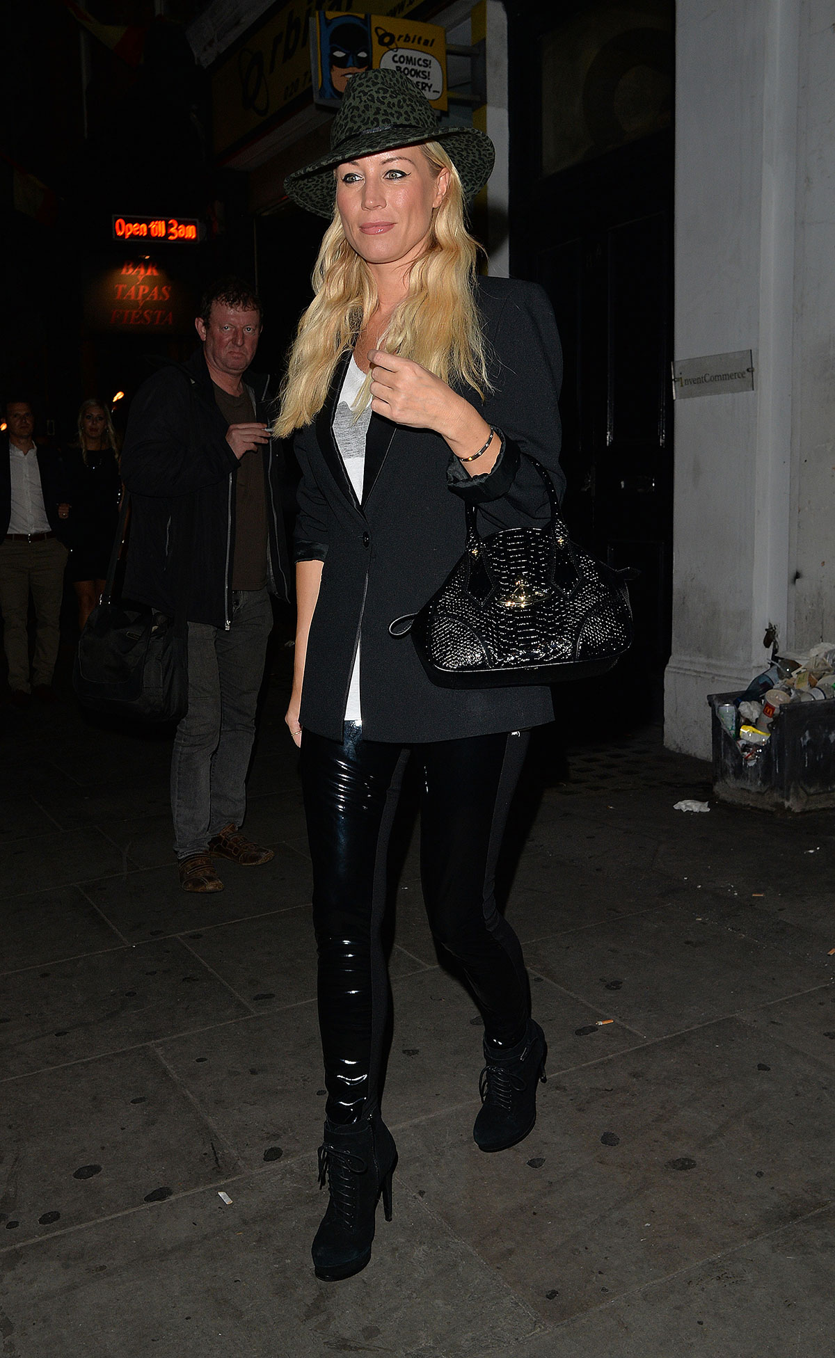 Denise Van Outen leaves the Arts theatre in London