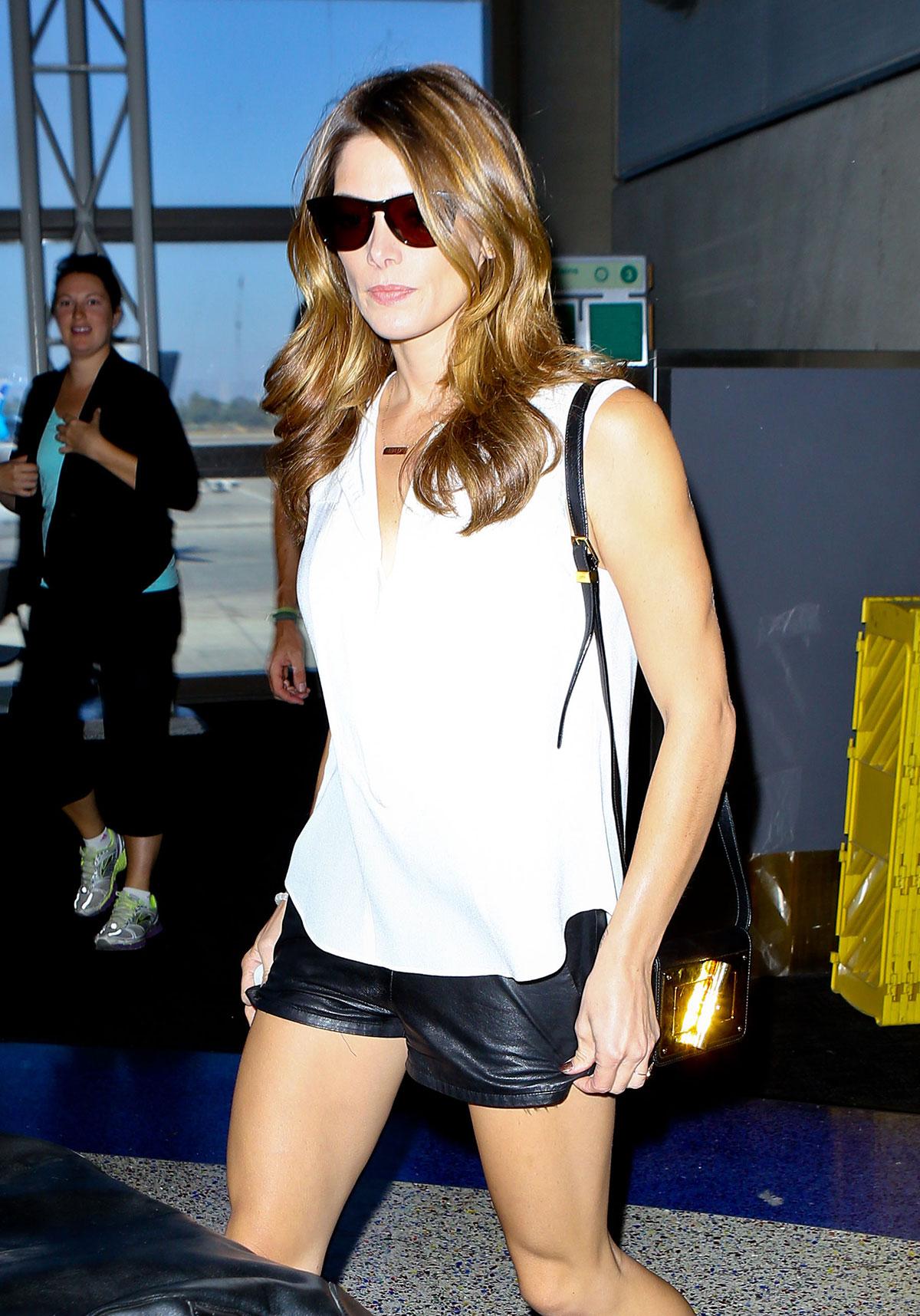 Ashley Greene seen at LAX airport in LA
