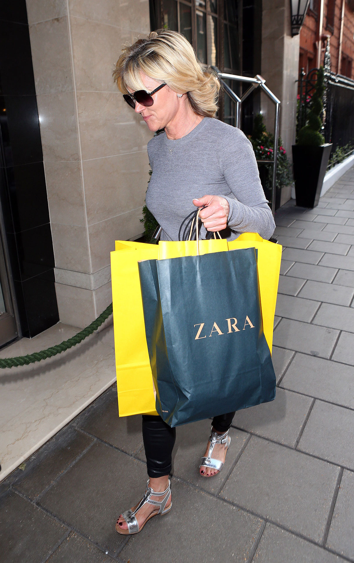 Anthea Turner at Claridges Hotel in London