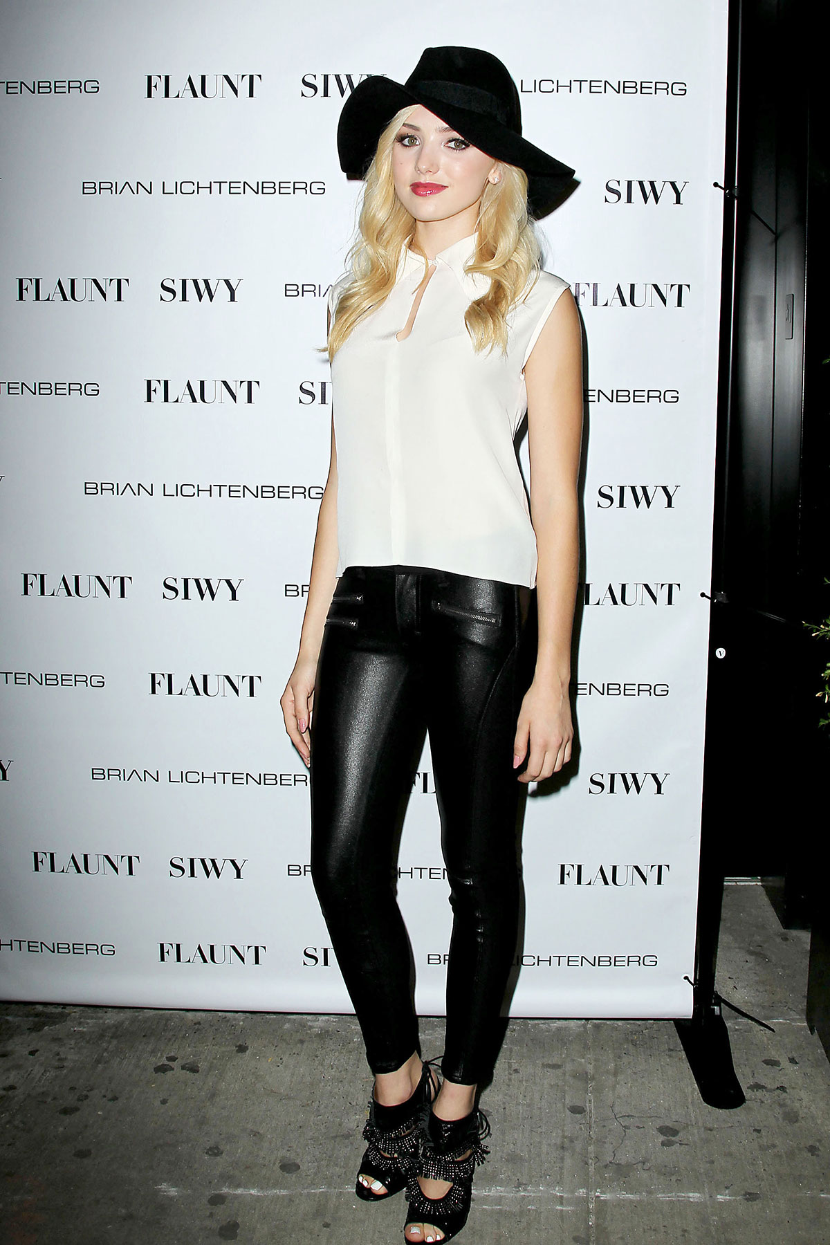 Peyton Roi List attends Flaunt Magazine's Distress Issue launch party
