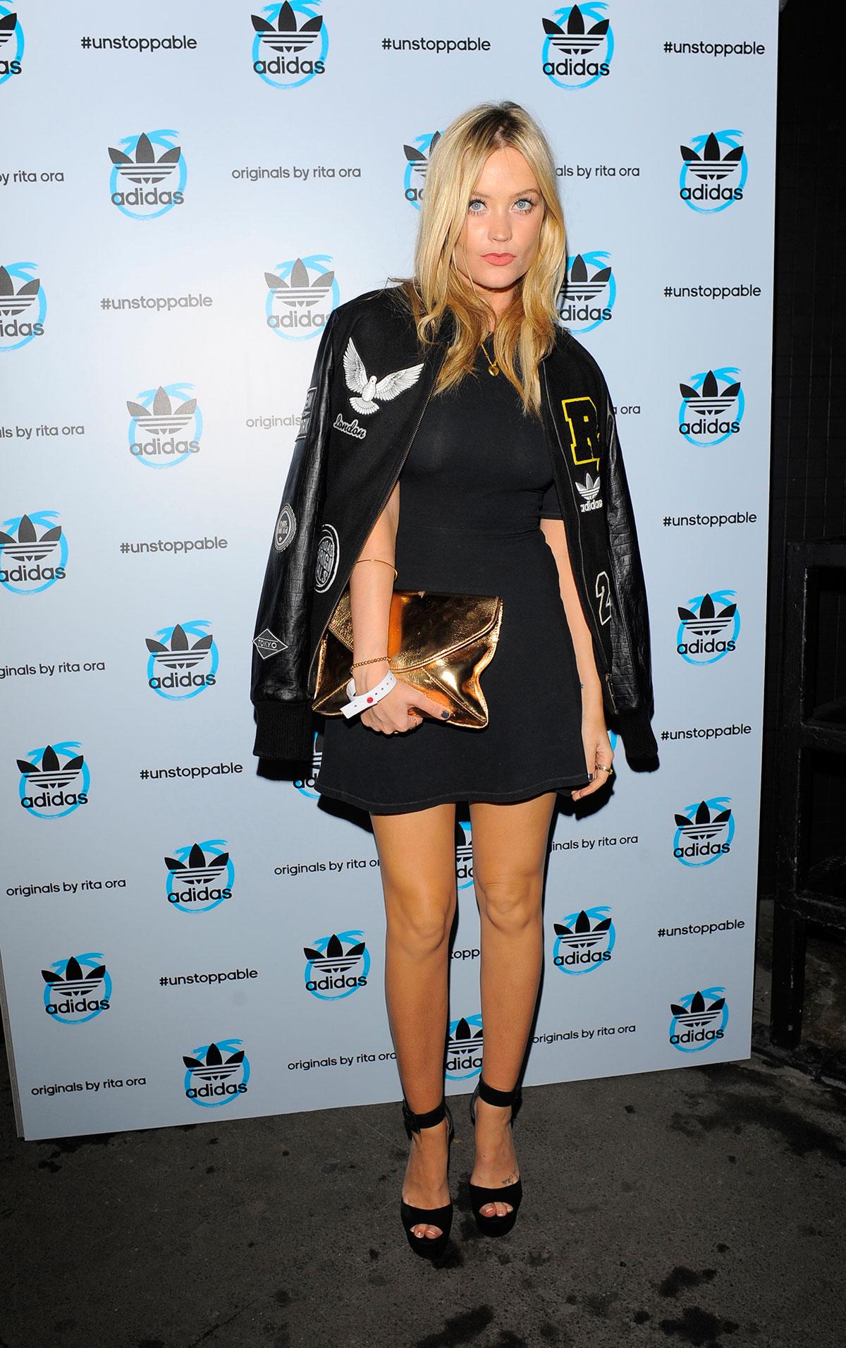 Laura Whitmore attends adidas originals by Rita Ora launch