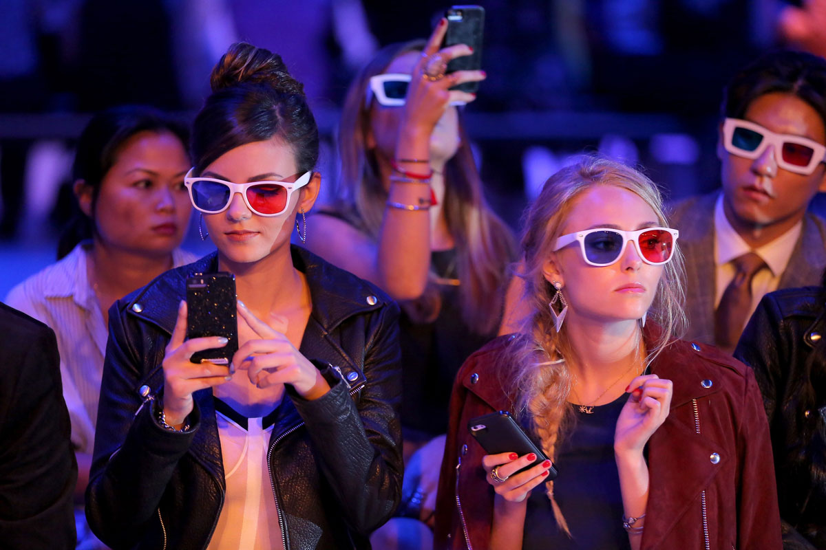 Victoria Justice attends the Rebecca Minkoff fashion show