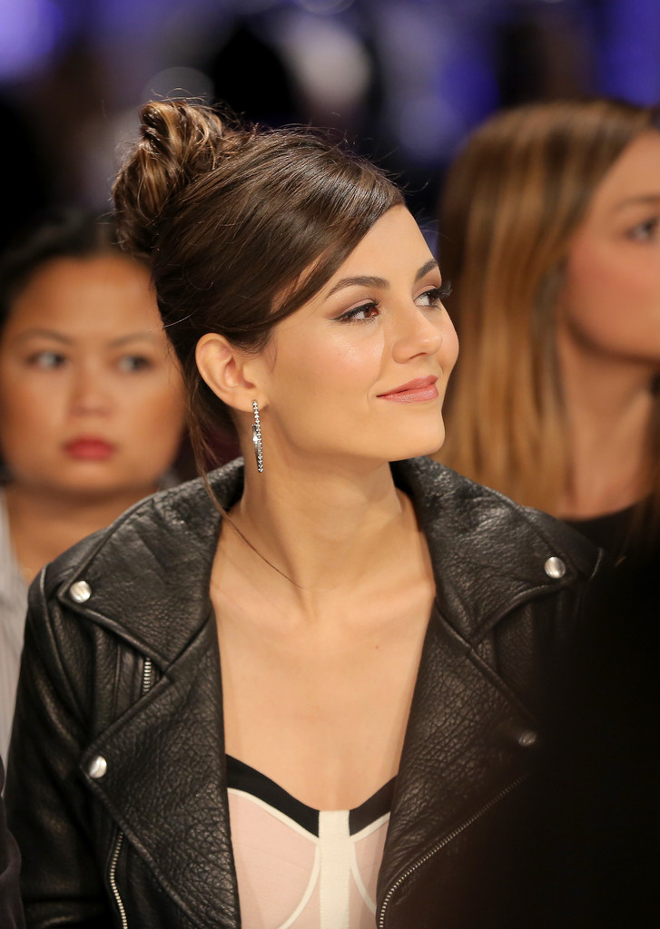 Victoria Justice attends the Rebecca Minkoff fashion show