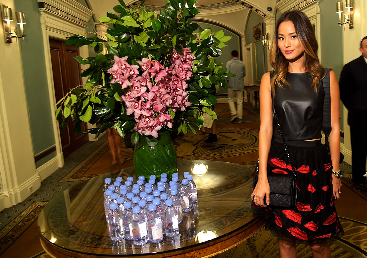 Jamie Chung at Alice+Olivia by Stacey Bendet Spring 2015 Presentation