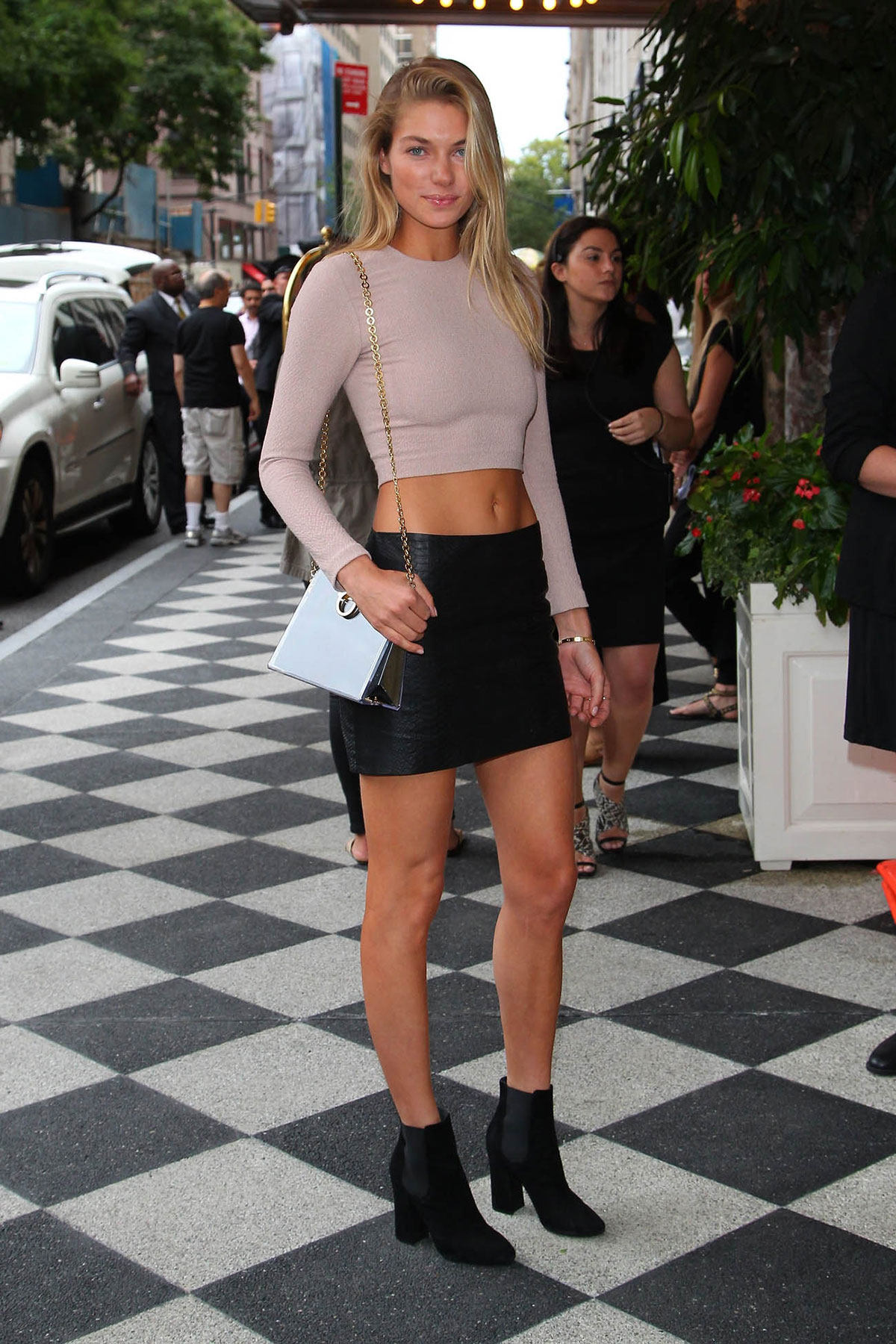 Jessica Hart attends the Alice and Olivia by Stacey Bendet Spring 2015