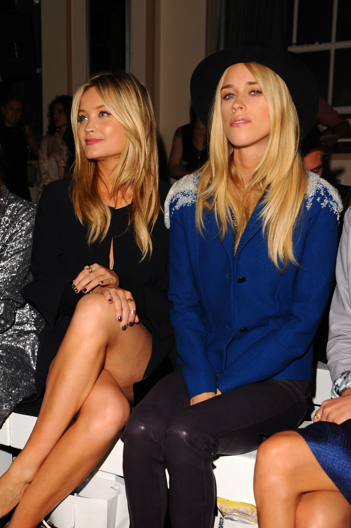 Laura Whitmore, Mary Charteris and Donna Air attend Gyunel Fashion Show