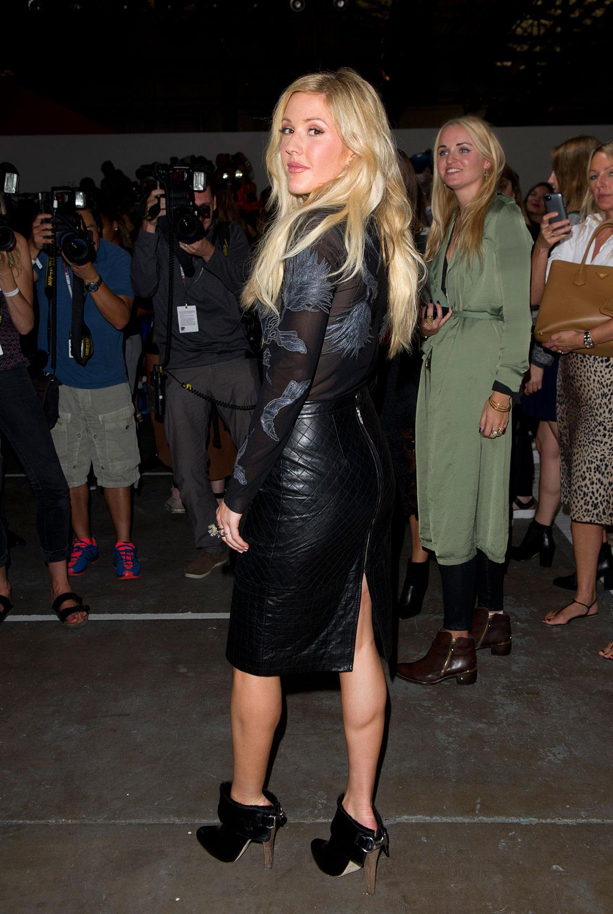 Ellie Goulding attends Topshop Unique show during London Fashion Week