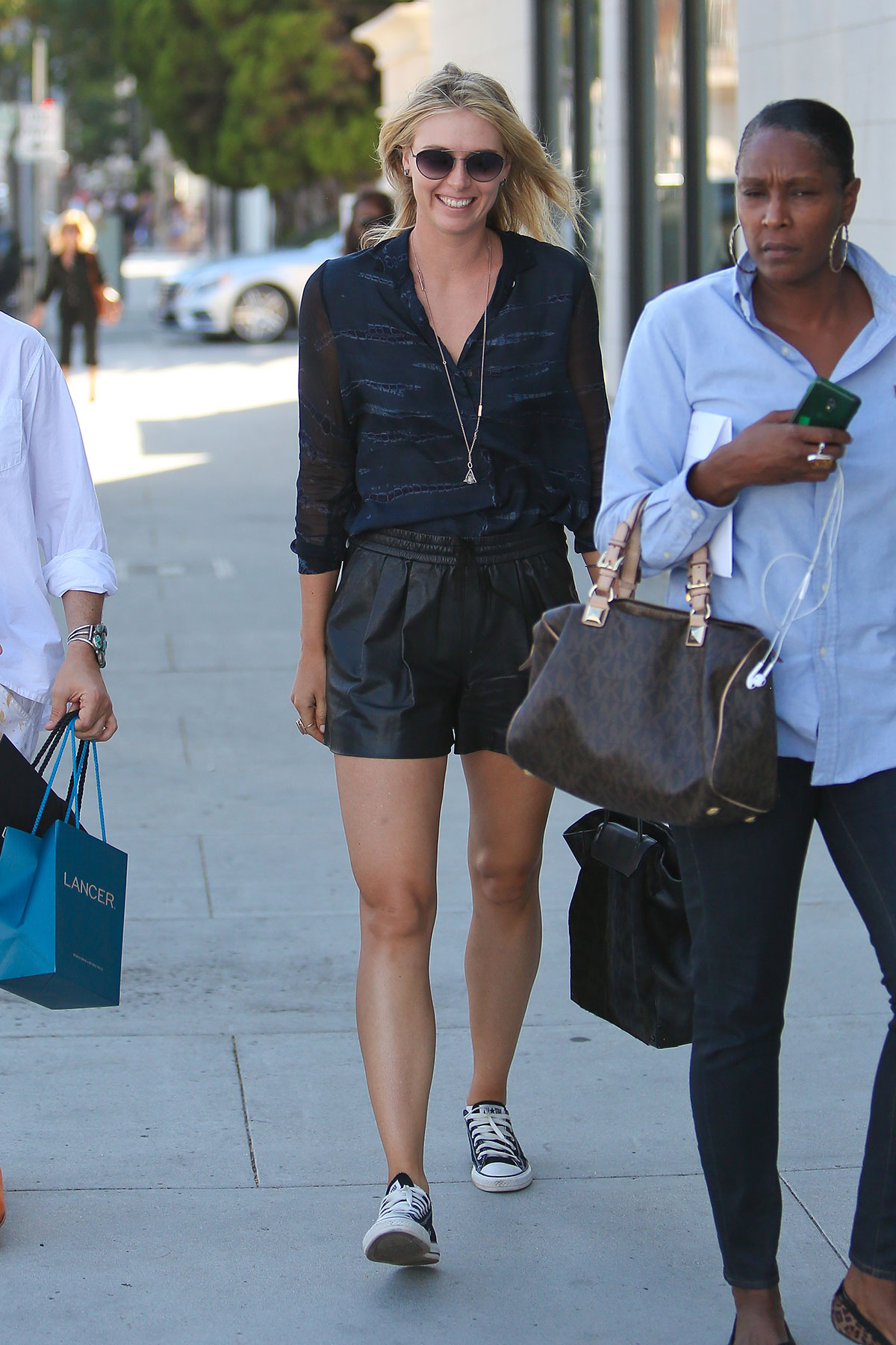 Maria Sharapova shopping on Rodeo Drive in Beverly Hills