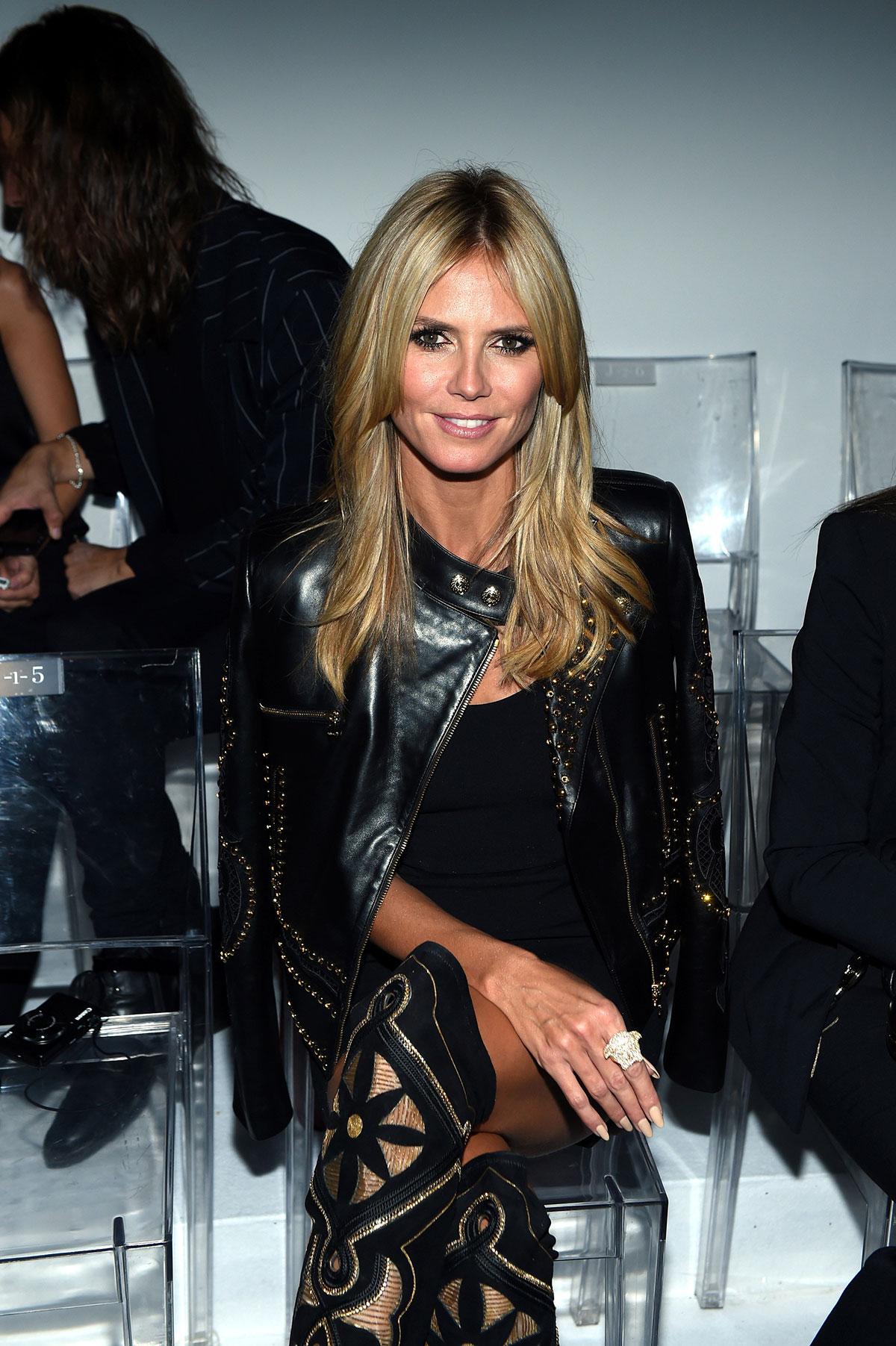 Heidi Klum attends Versace show during Milan Fashion Week
