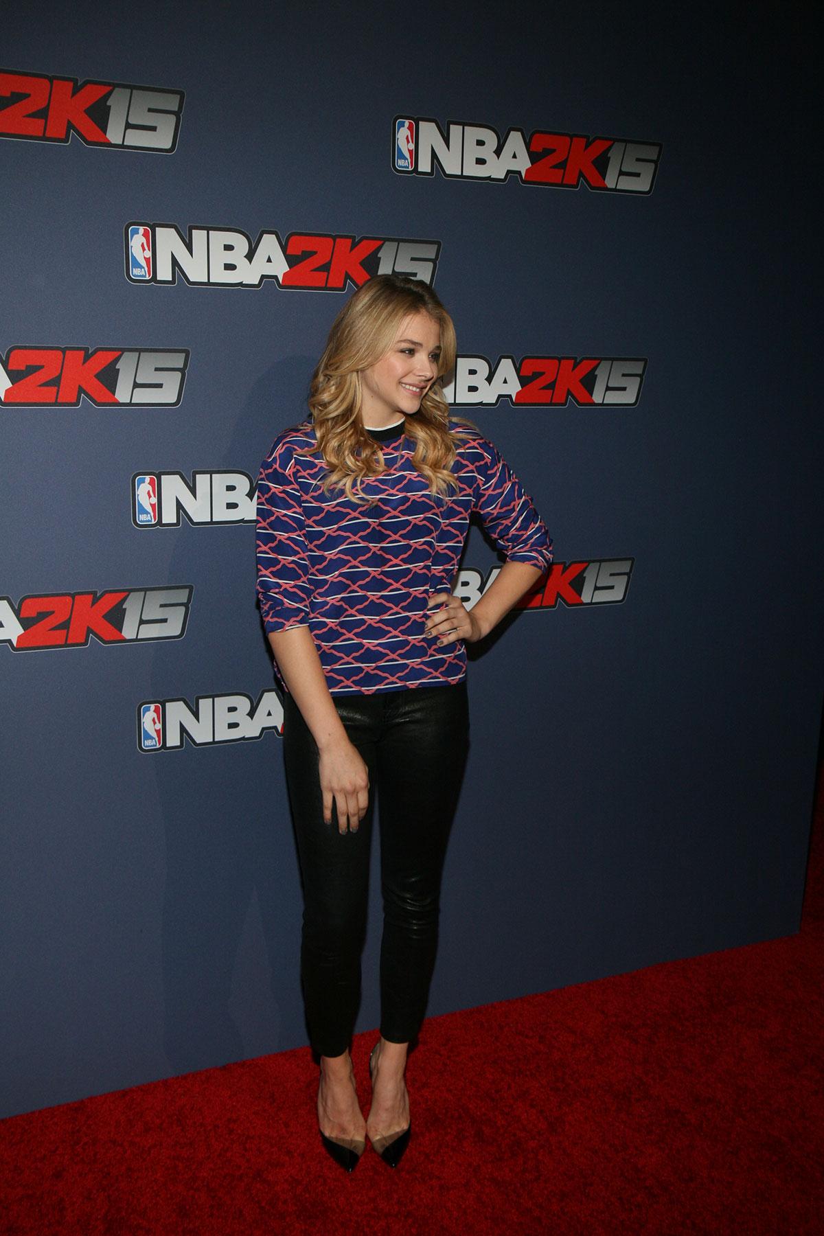 Chloe Moretz attends NBA 2K15 Launch Celebration in New York