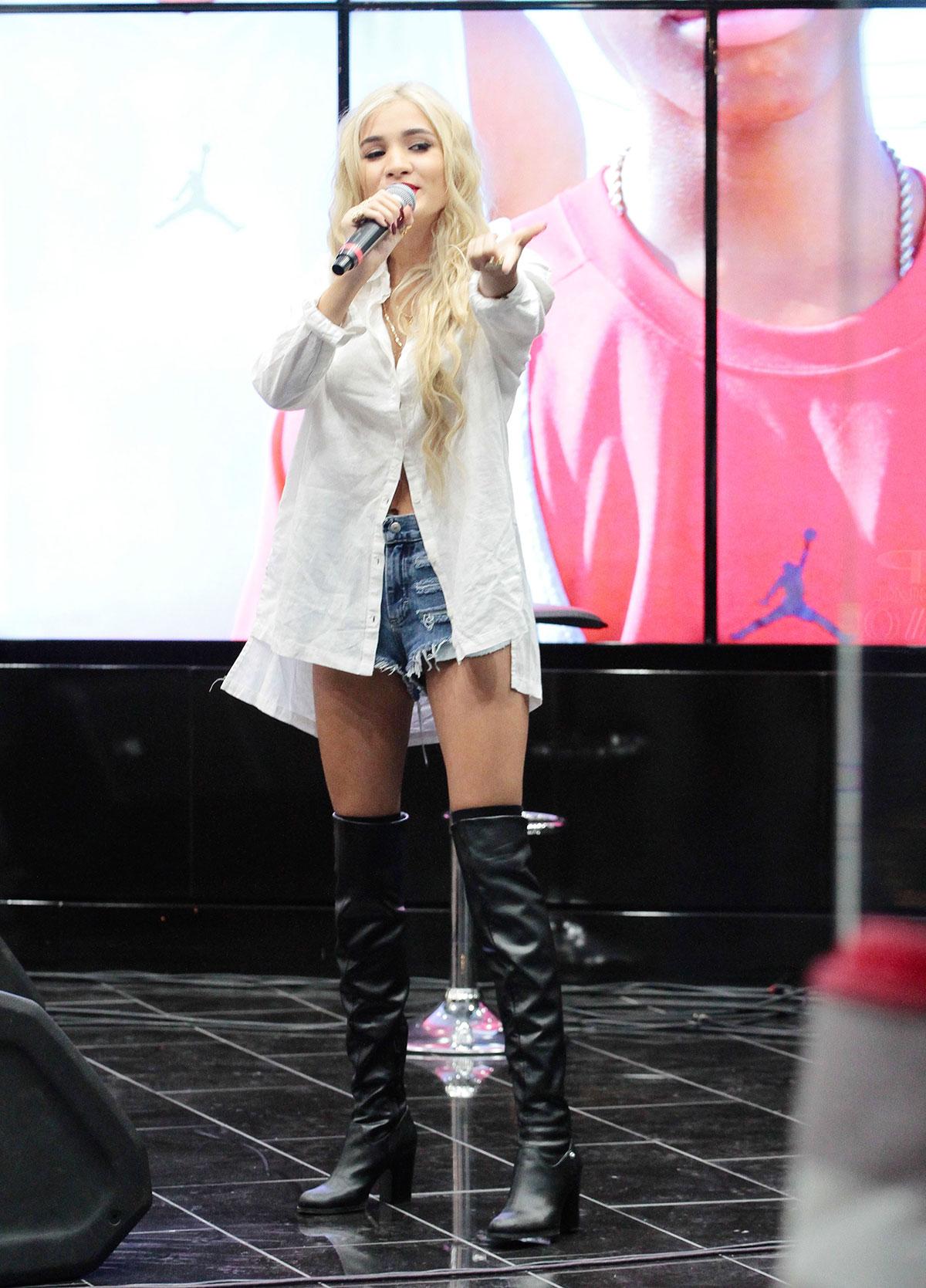 Pia Mia Perez performs at The Shoe Palace