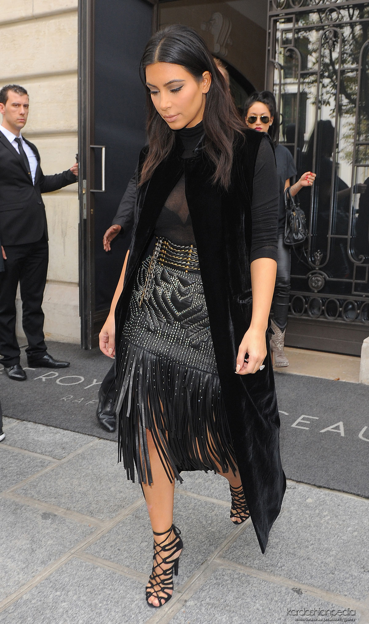 Kim Kardashian was seen shopping in Paris