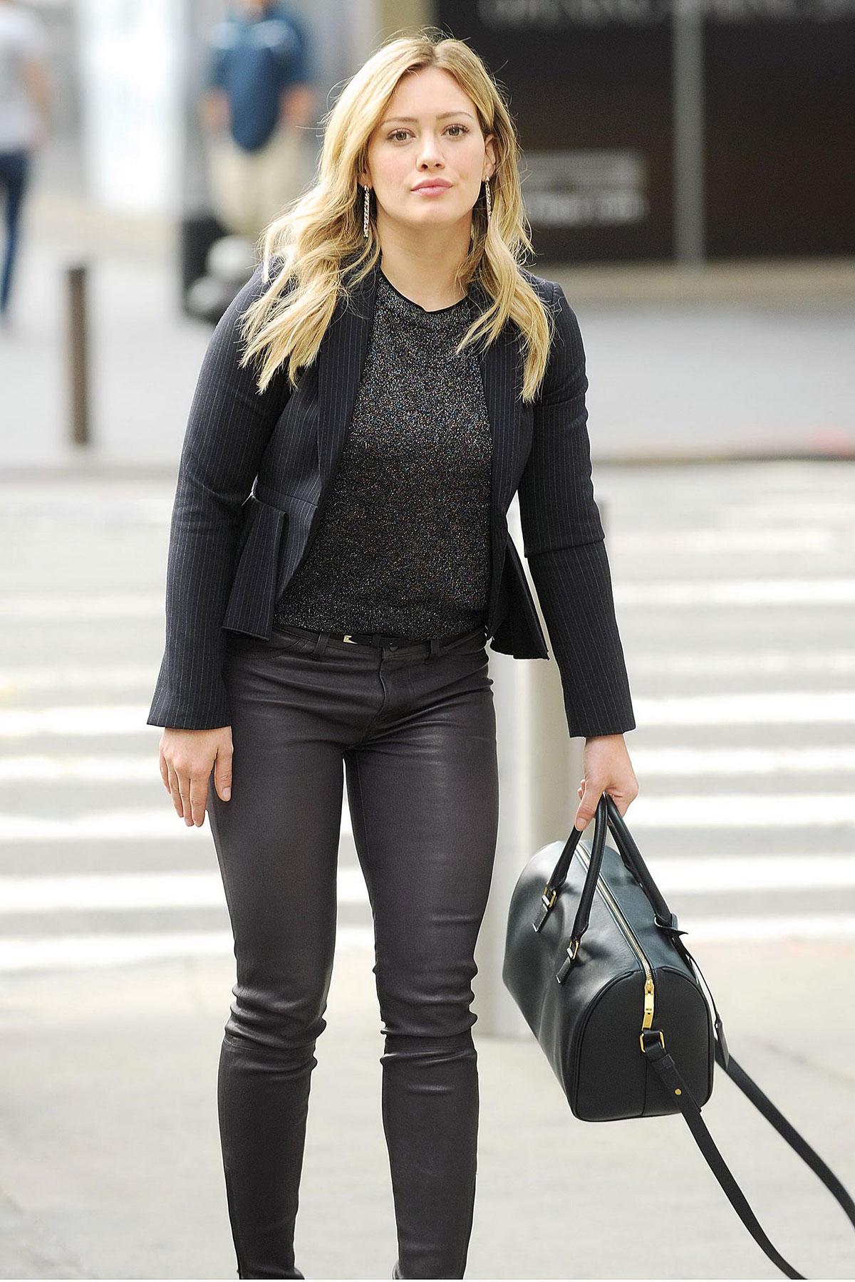 Hilary Duff was spotted on the set of Younger in New York City