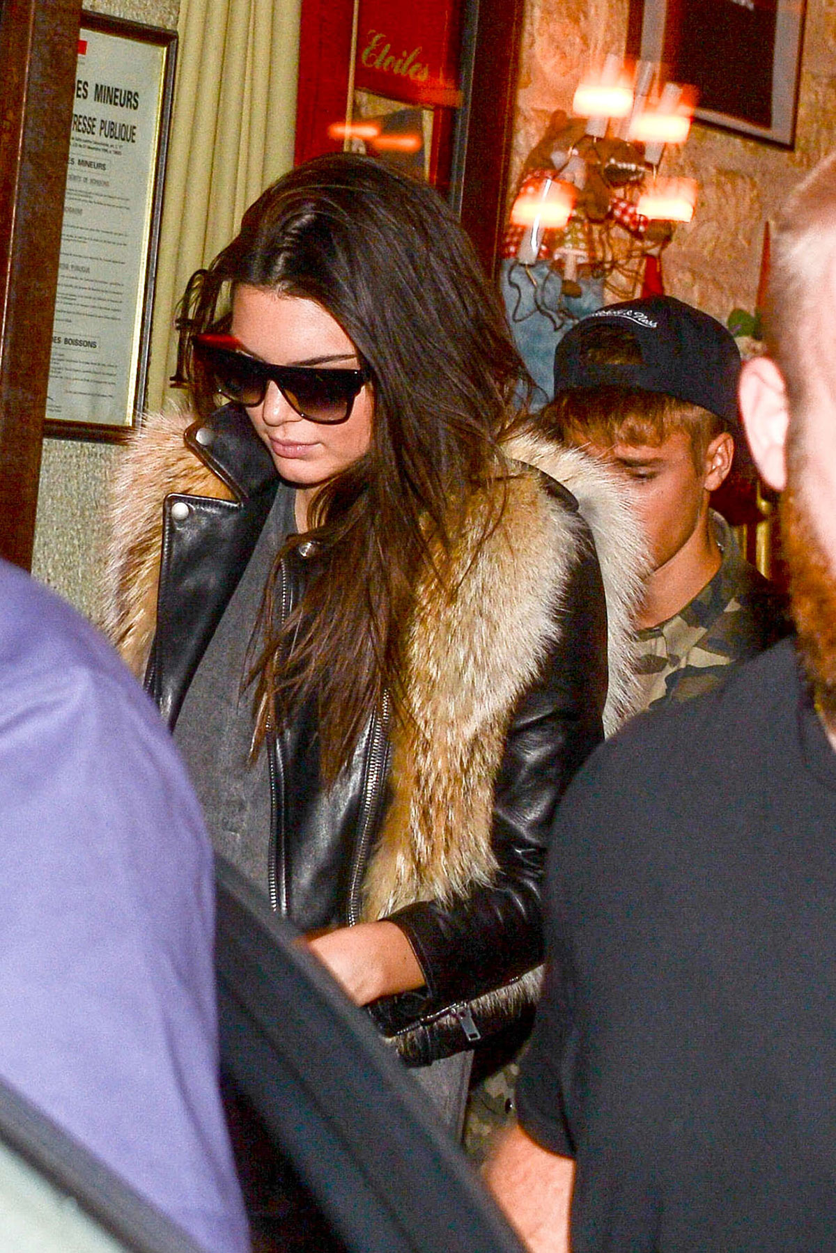 Kendall Jenner was spotted with Justin Bieber leaving Ferdi Restaurant