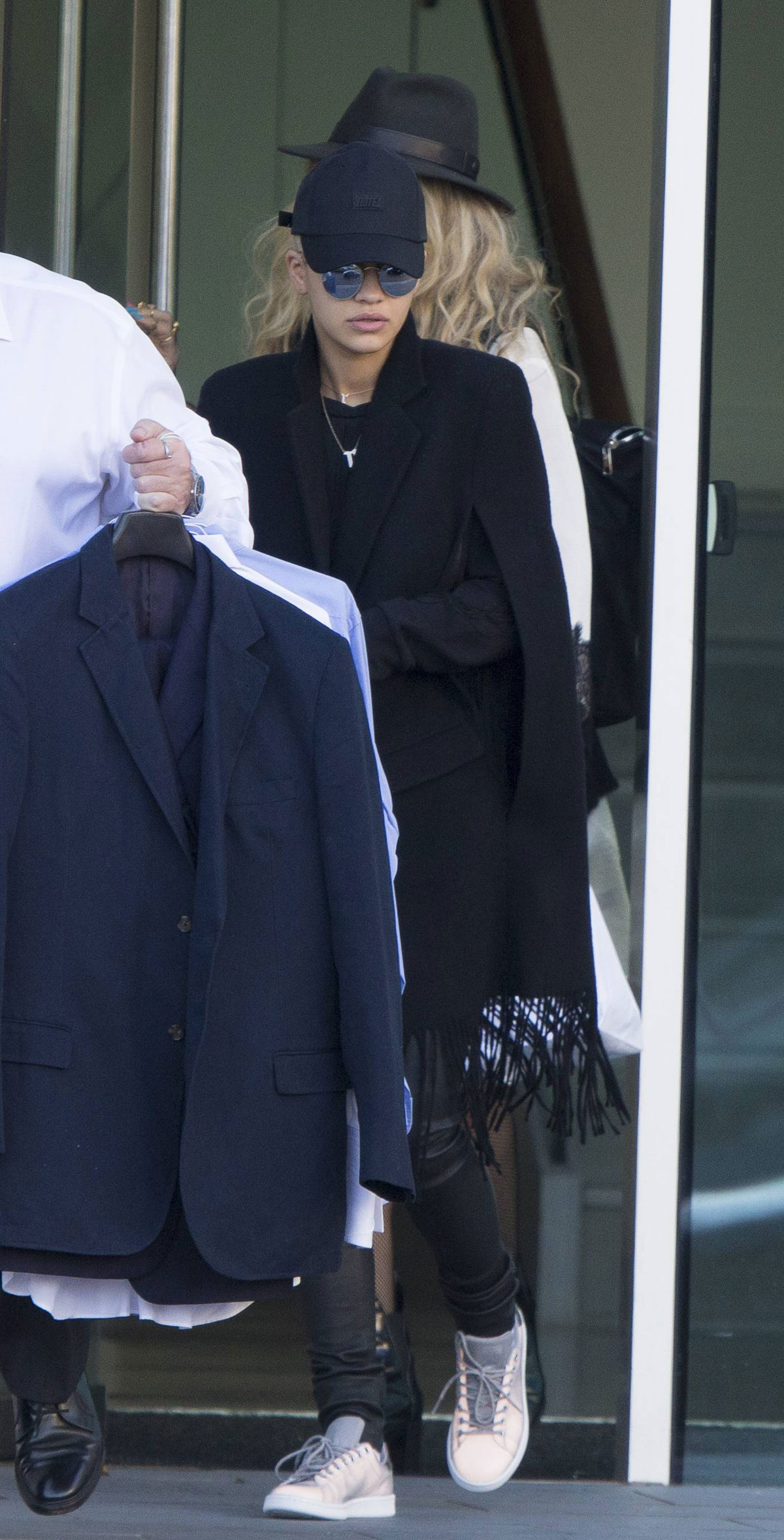 Rita Ora leaving her hotel in Manchester