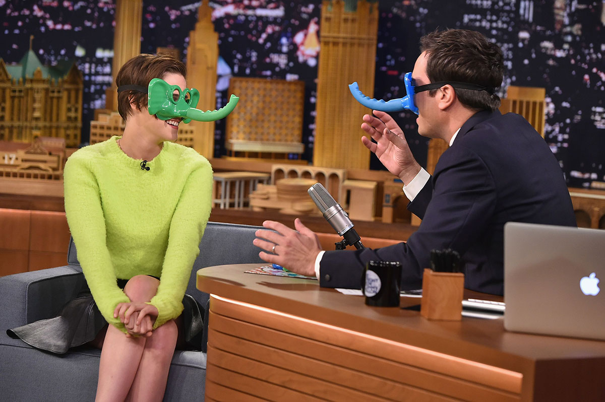 Kristen Stewart at The Tonight Show with Jimmy Fallon