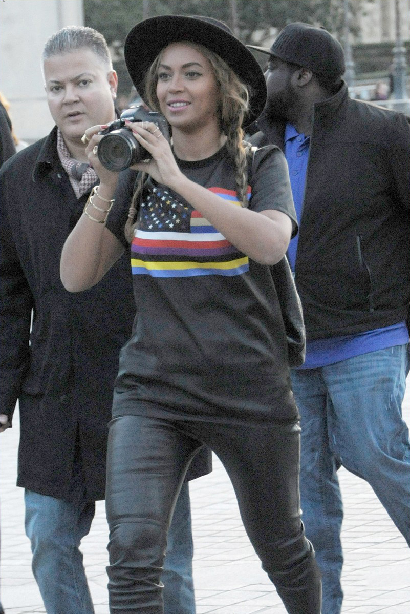 Beyonce out and about in Paris
