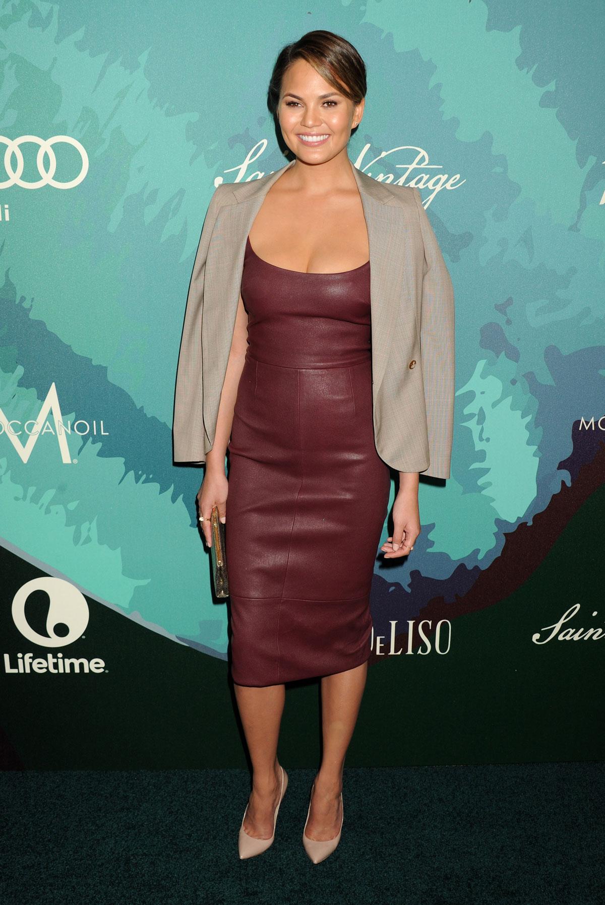 Chrissy Teigen attends 2014 Variety Power of Women presented