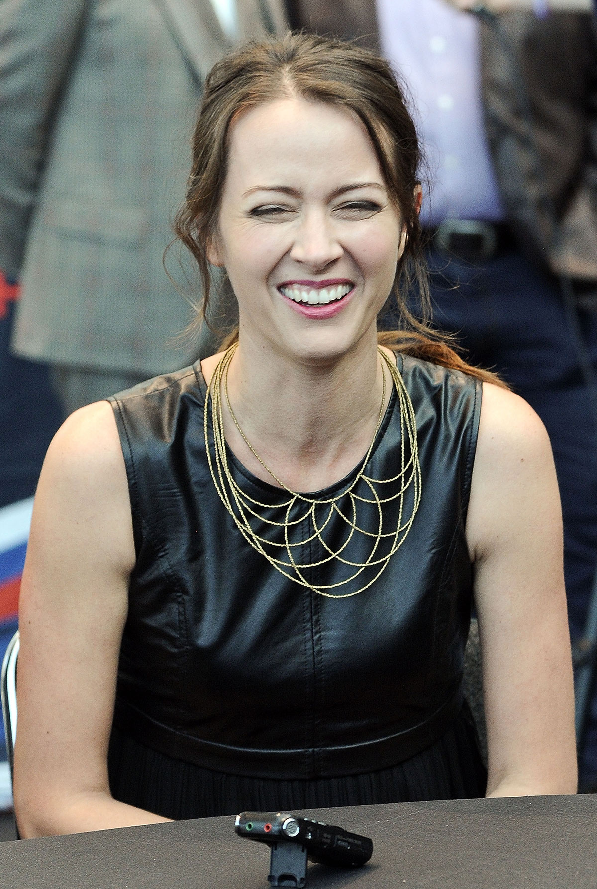 Amy Acker attends CBS Person of Interest Press Line