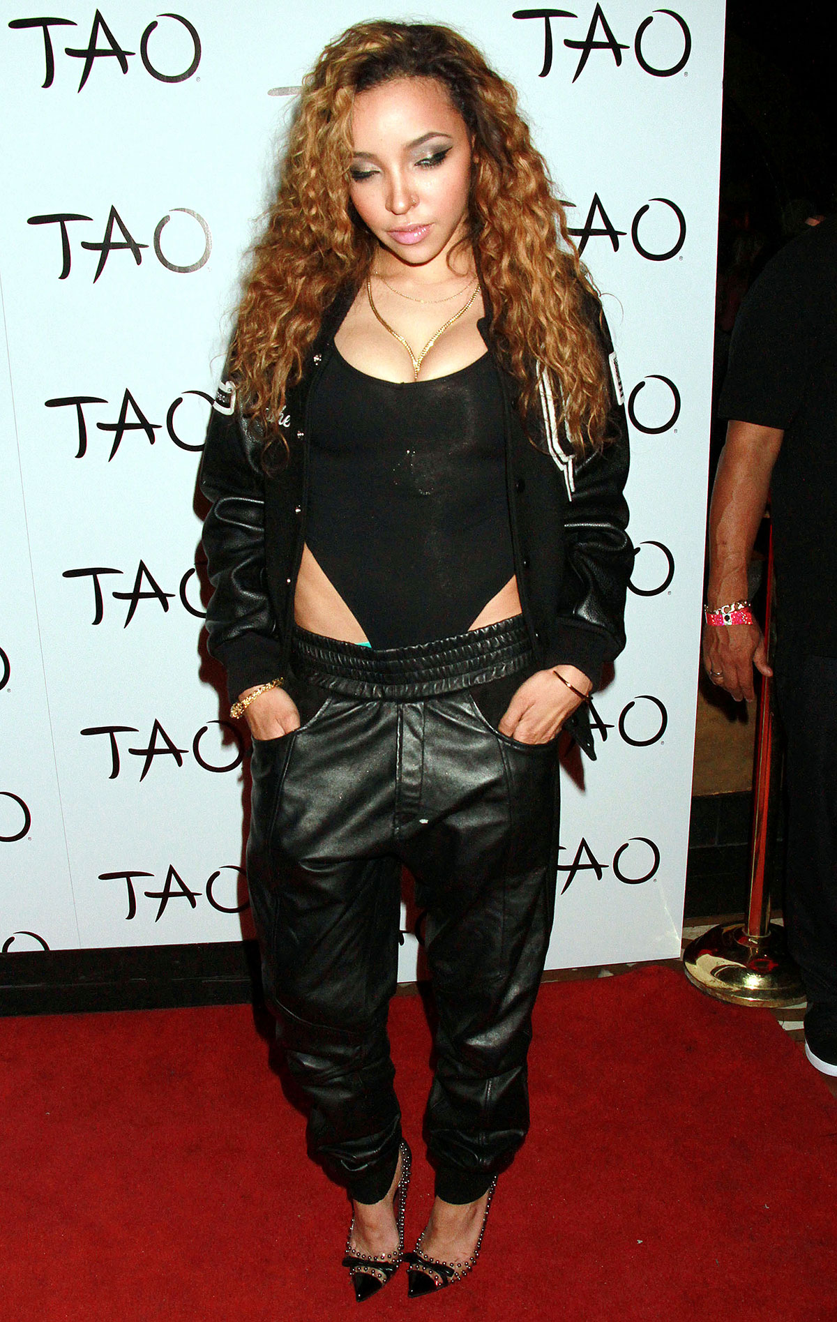 Tinashe attends her album release party at Tao Nightclub