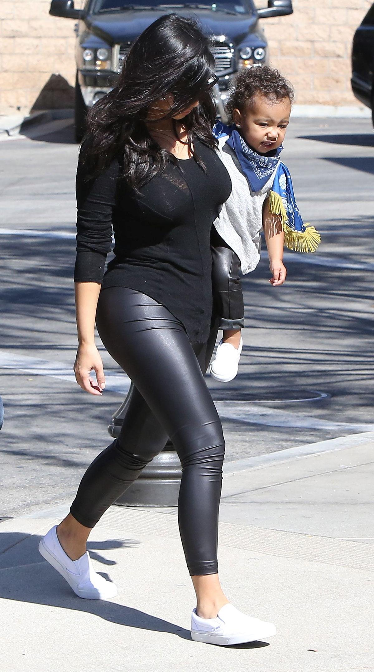 Kim Kardashian leaving The Grill in Calabasas