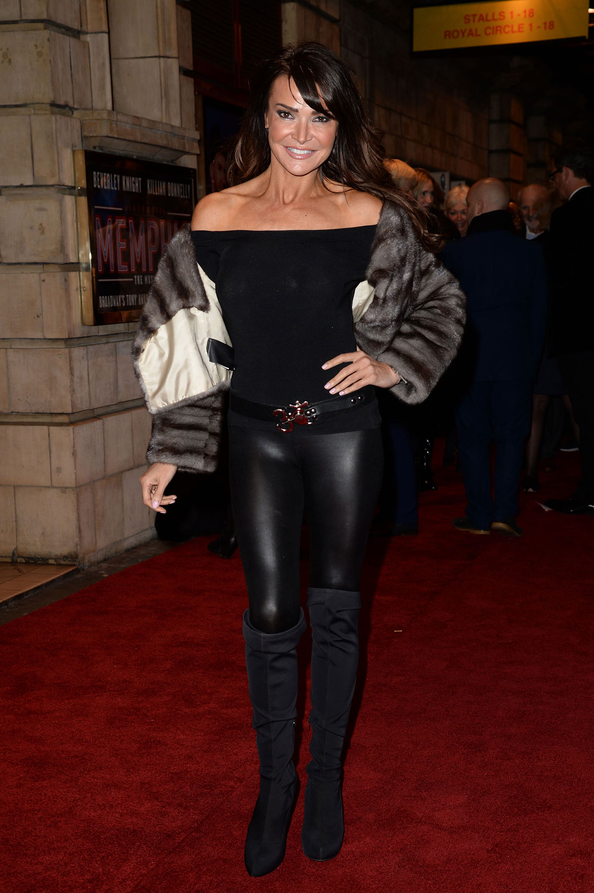 Lizzie Cundy at Memphis Press Night Arrivals