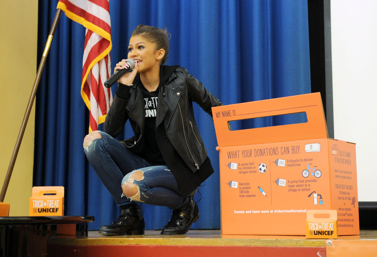 Zendaya Coleman attends Trick-or-Treat for UNICEF