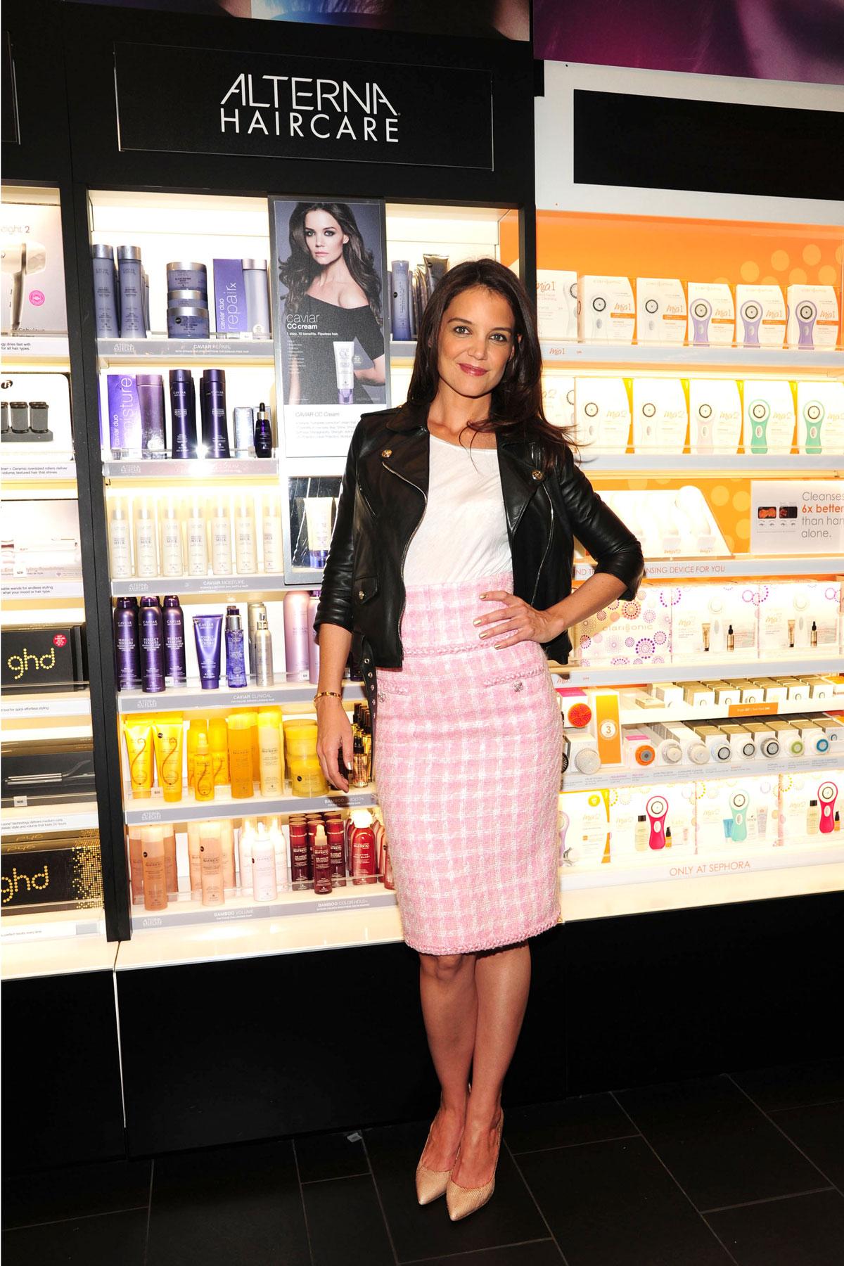 Katie Holmes shopping at Sephora