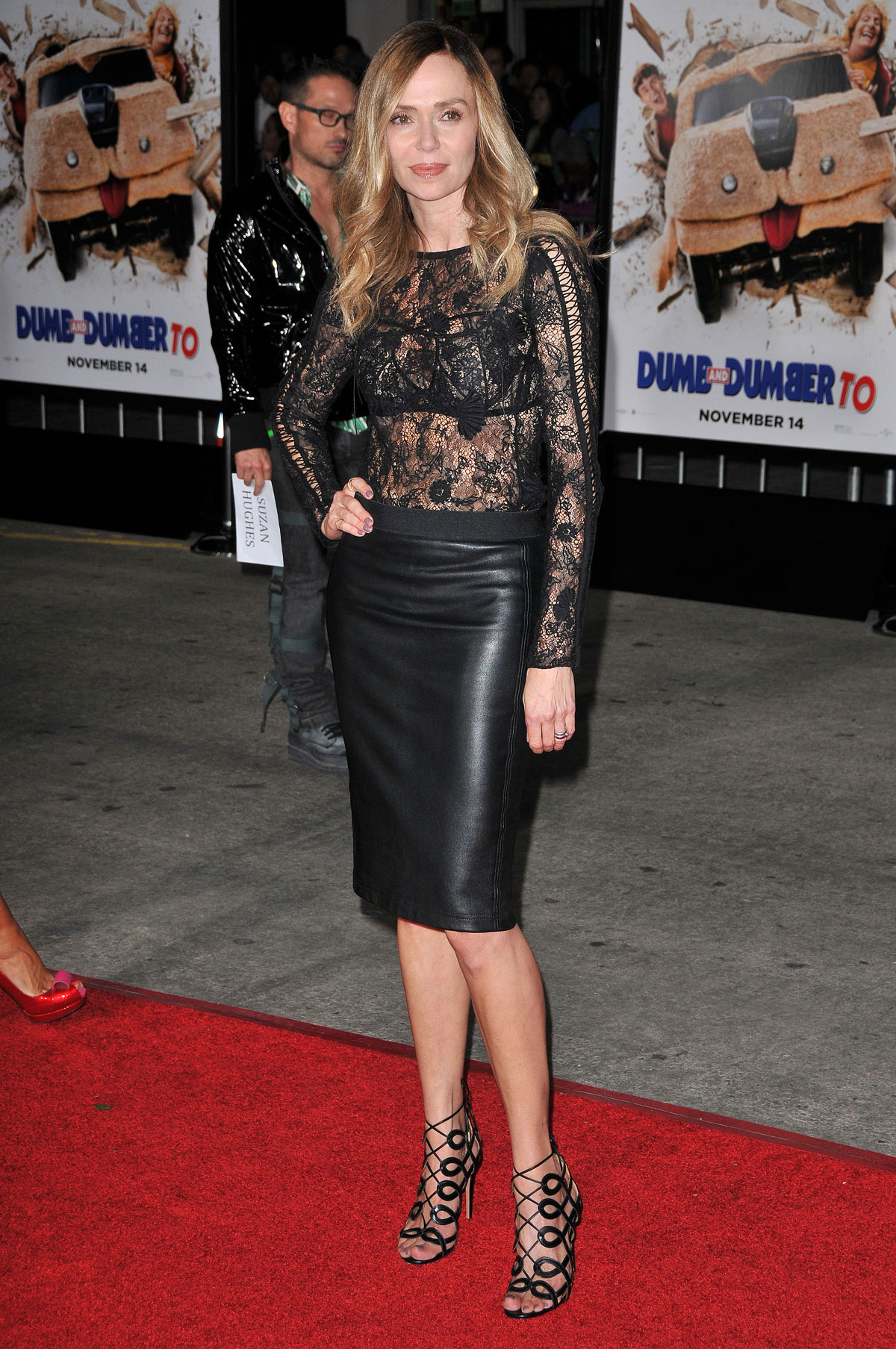 Vanessa Angel attends Los Angeles premiere of Dumb And Dumber To