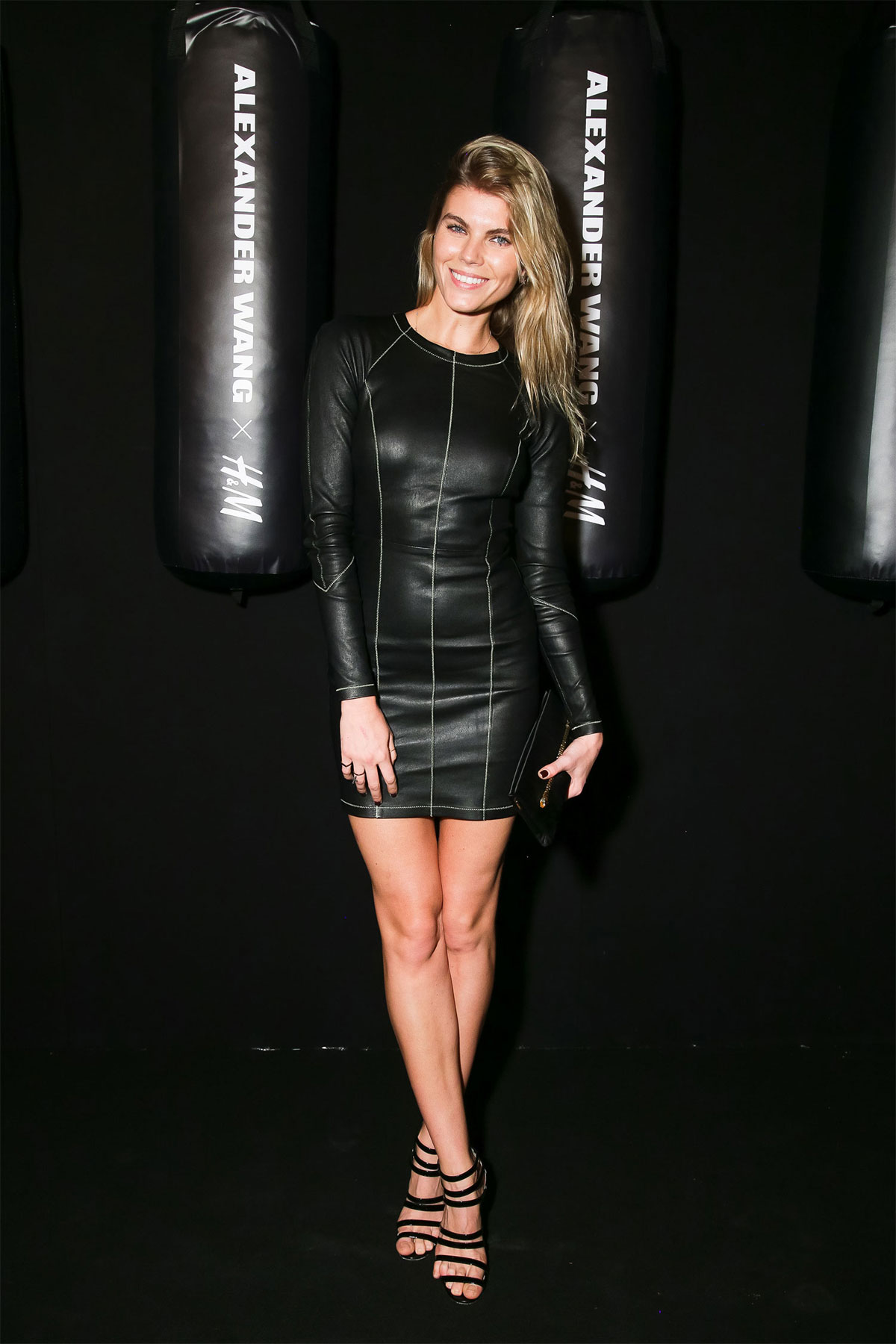 Maryna Linchuk attends the Alexander Wang x H&M Collection Launch