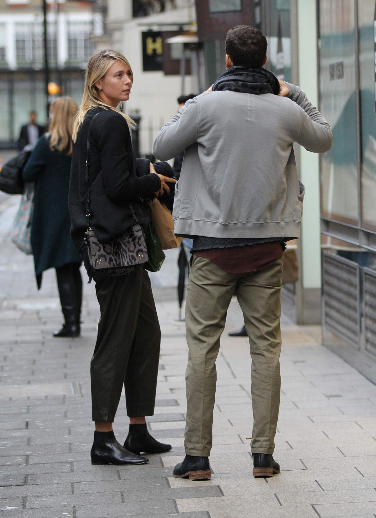 Maria Sharapova shopping at Dover Street Market