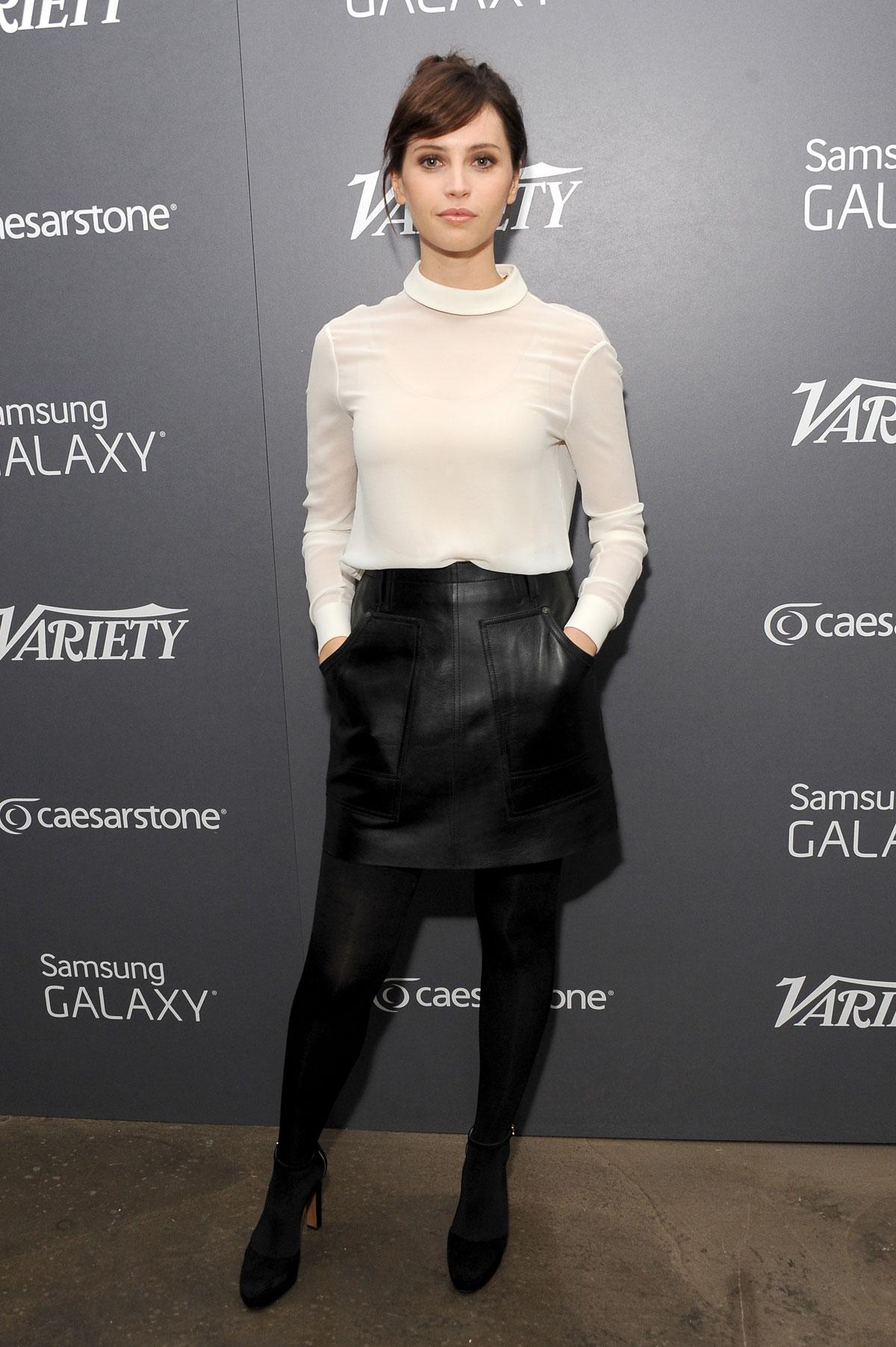 Felicity Jones at Variety Studios in Los Angeles