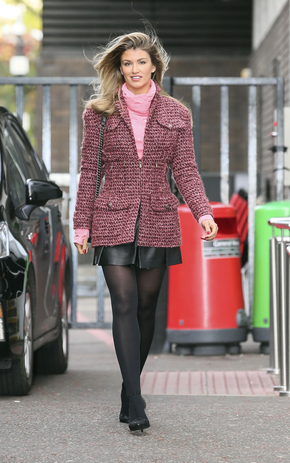 Amy Willerton seen leaving the ITV studios