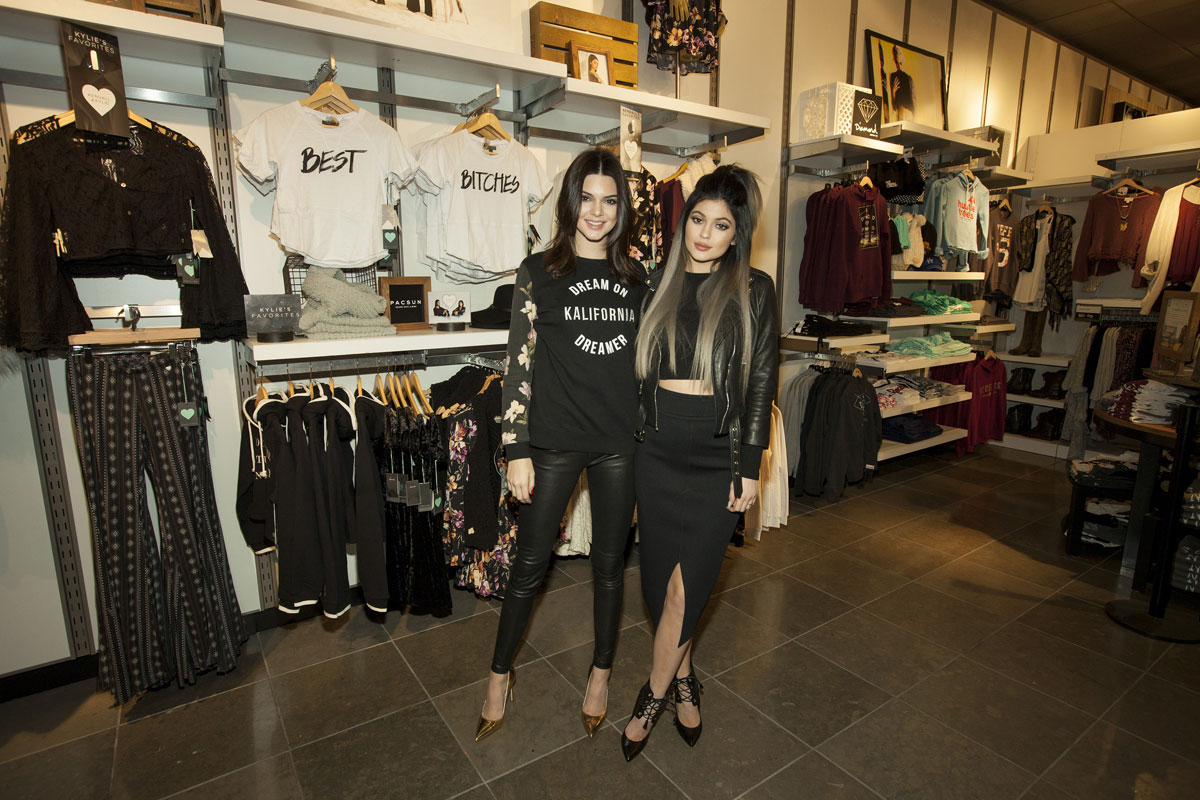 Kendall Jenner atteds PacSun Holiday collection launch