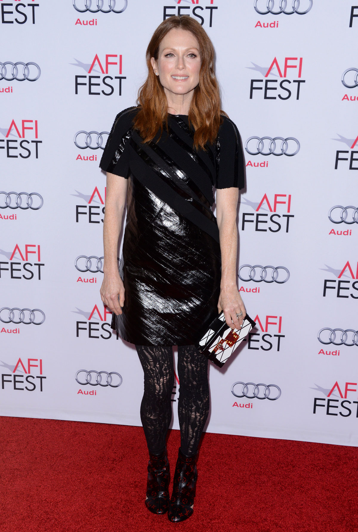 Julianne Moore on the red carpet at the premiere of Still Alice