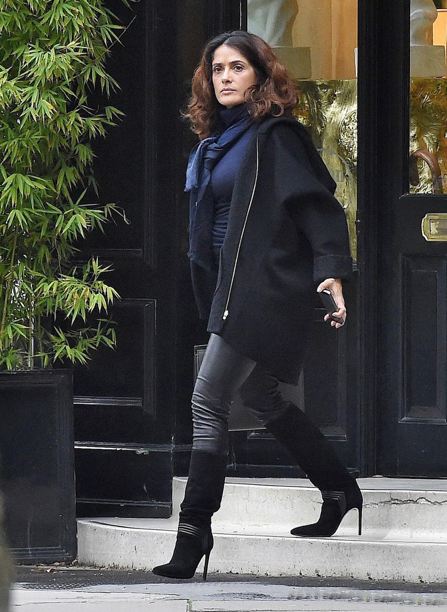 Gallery - Leather Celebrities Salma Hayek Photos