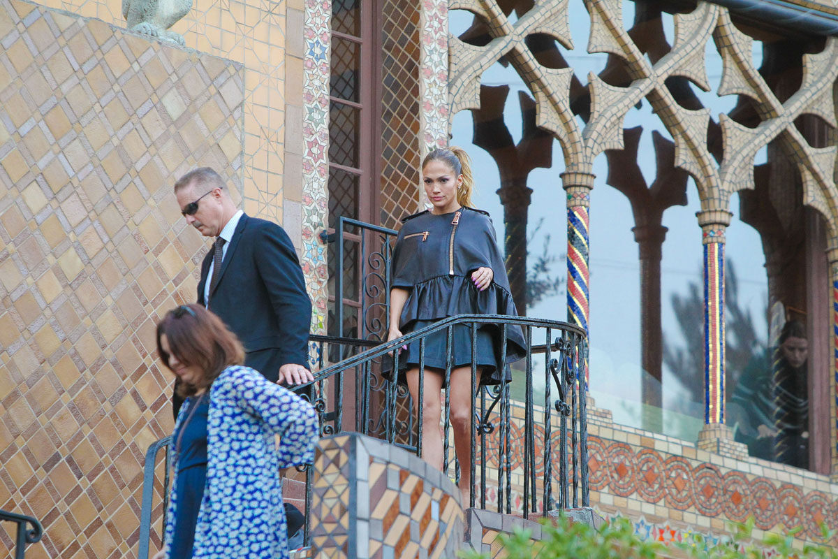 Jennifer Lopez at Mansion in the Hollywood Hills for a photoshoot