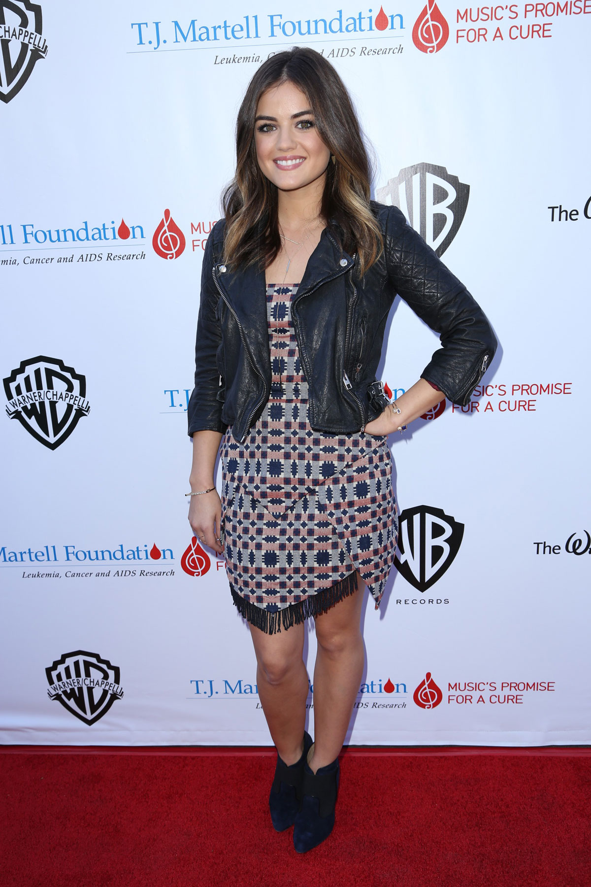 Lucy Hale attends TJ Martell Foundation Family Day