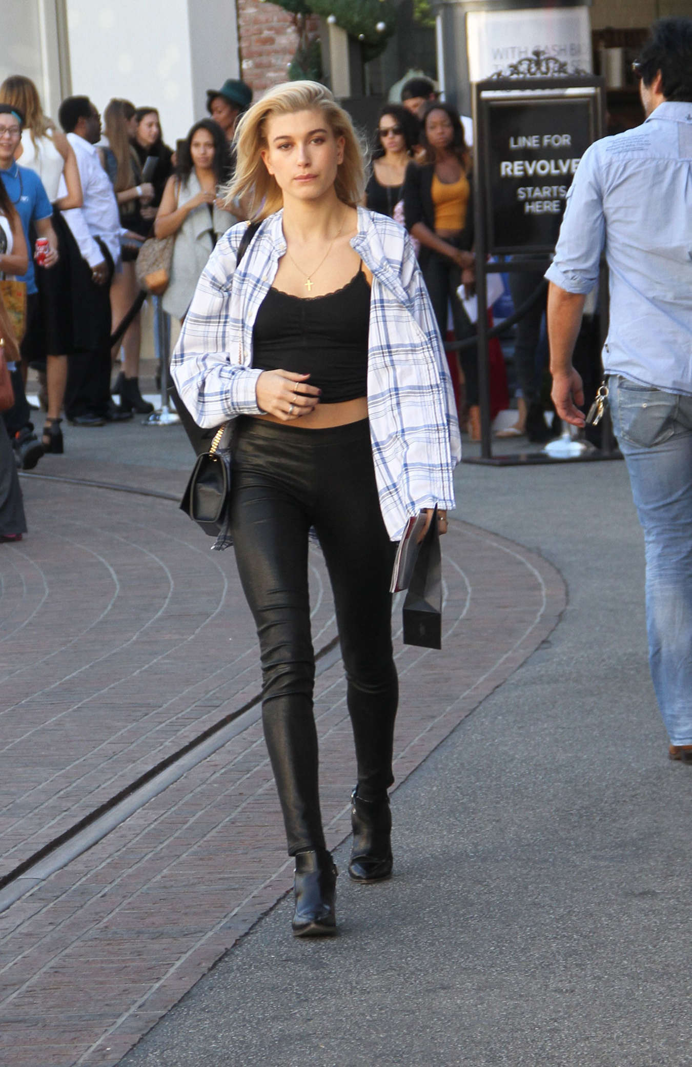 Hailey Baldwin out at Barney's New York