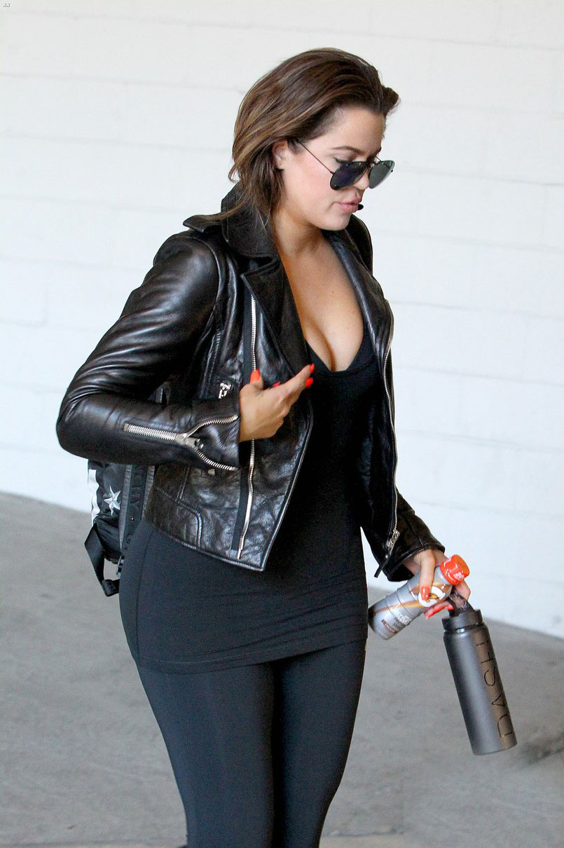 Khloe Kardashian was spotted at gym workout
