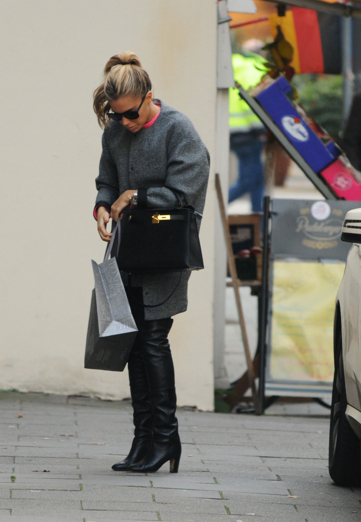 Sylvie Meis shopping in Hamburg