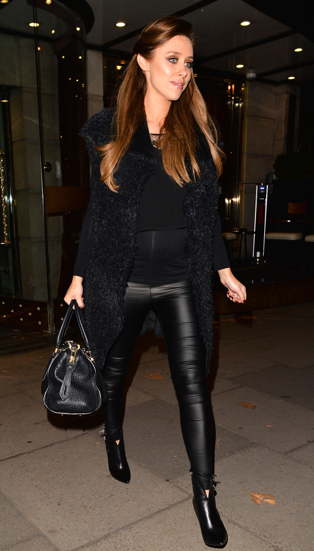 Una Healy leaving hotel in London