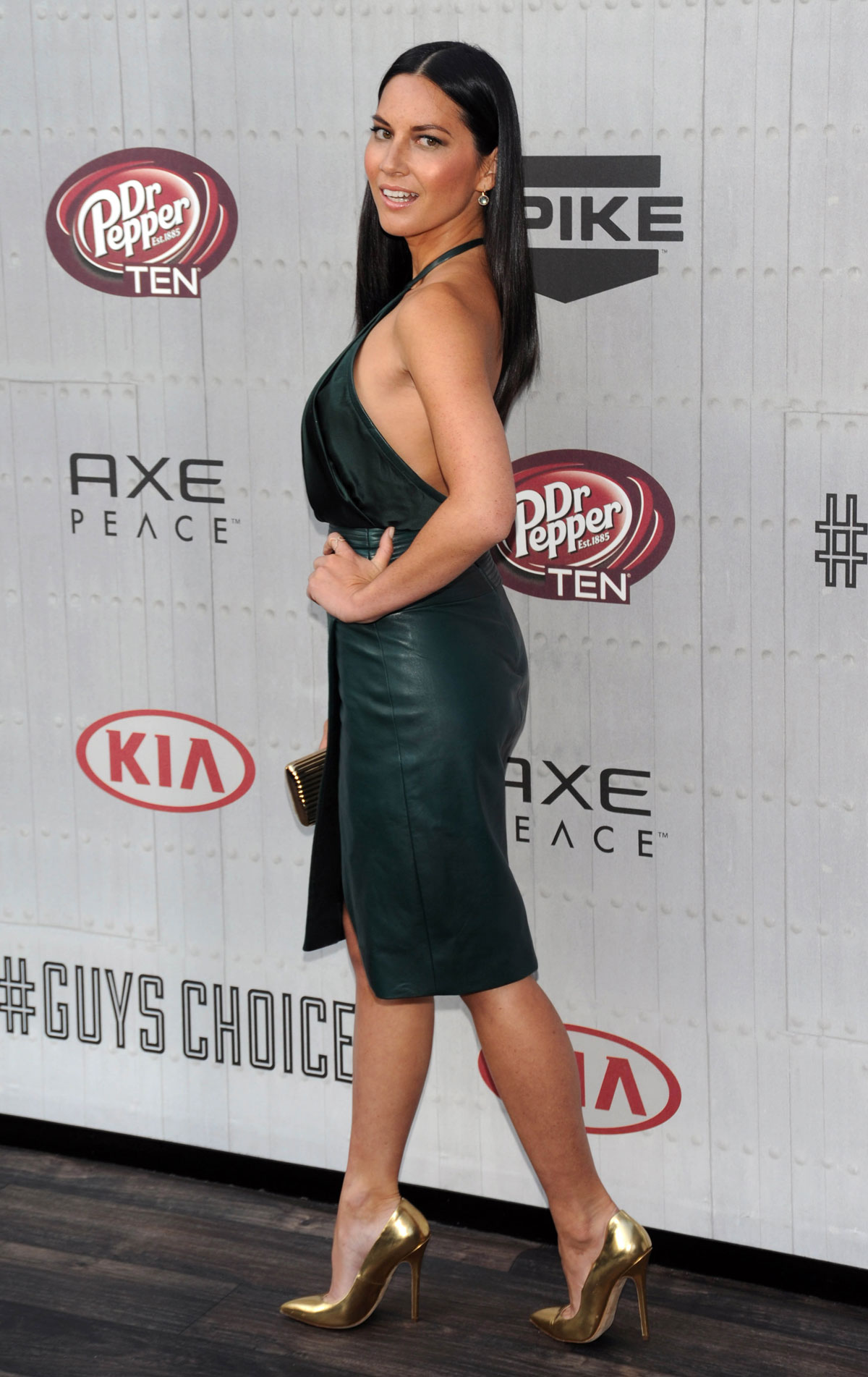 Olivia Munn attends Spike TV Guy Choice Awards 2014