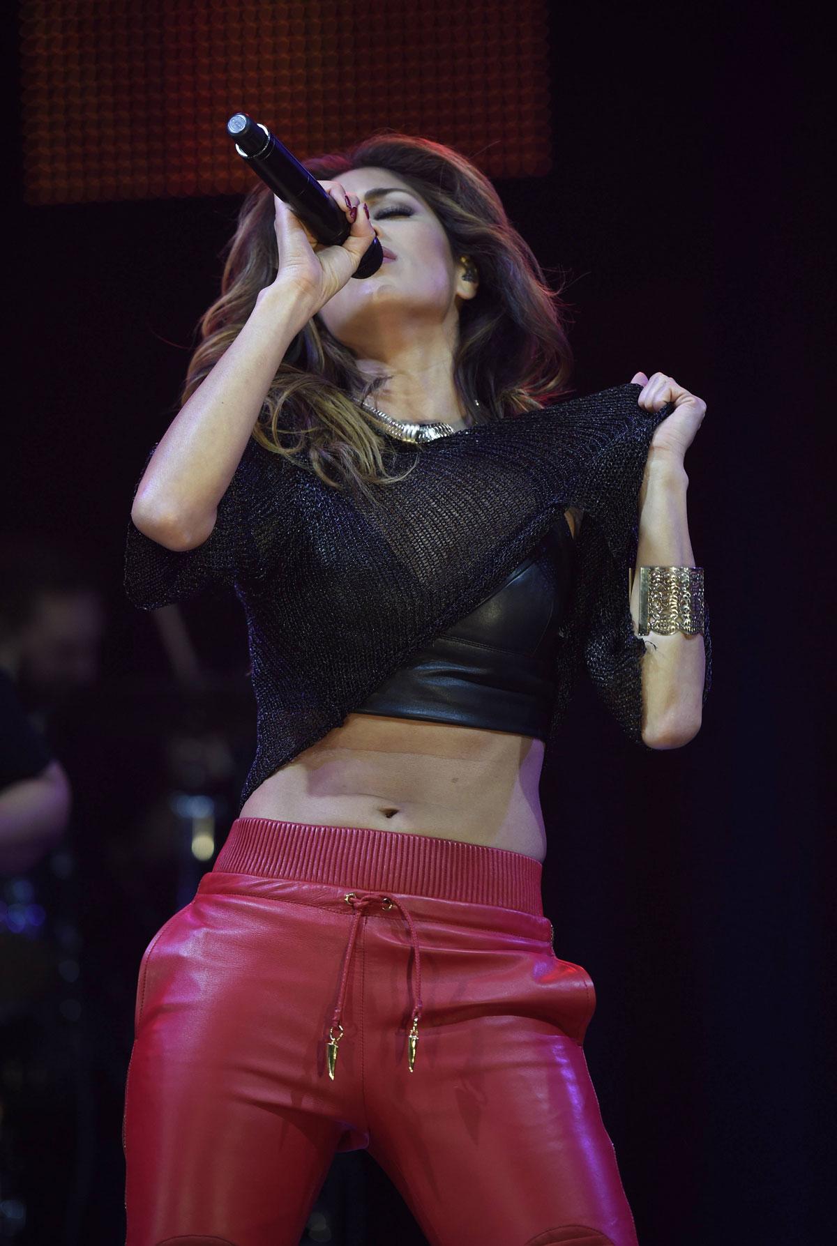 Nicole Scherzinger performs at Key 103 Christmas Live