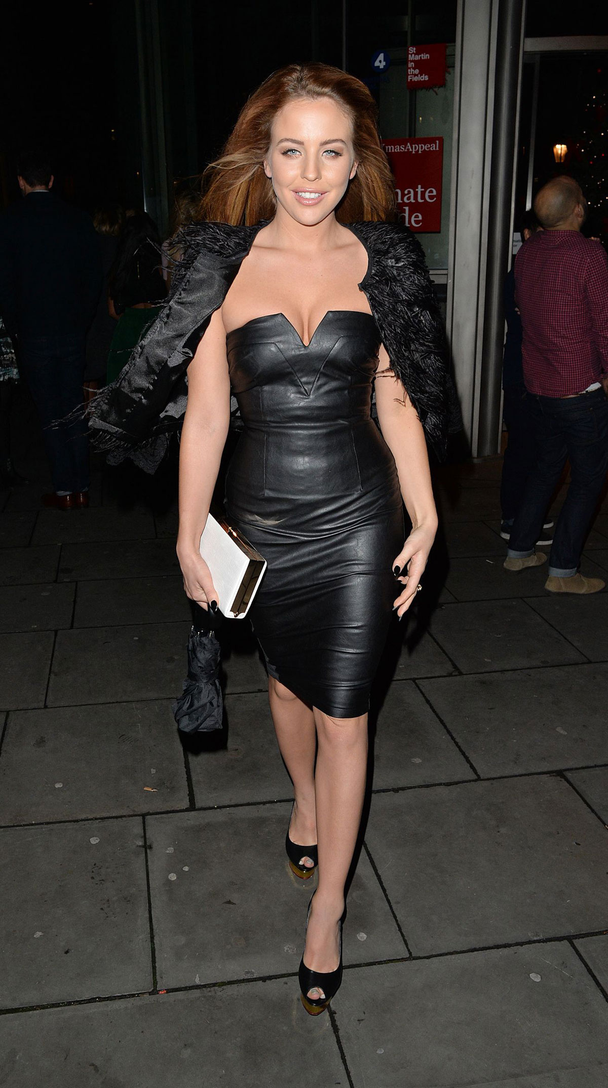 Lydia Bright attends a Christmas Party London
