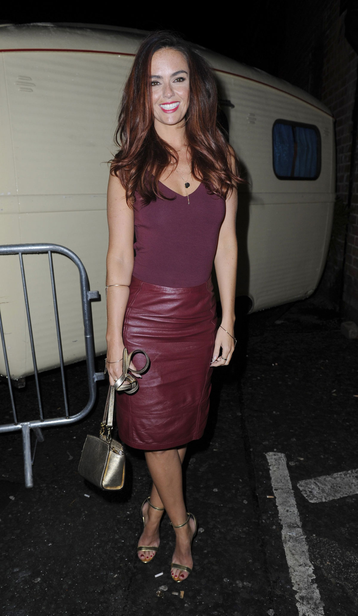 Jennifer Metcalfe attends a Christmas Party Liverpool