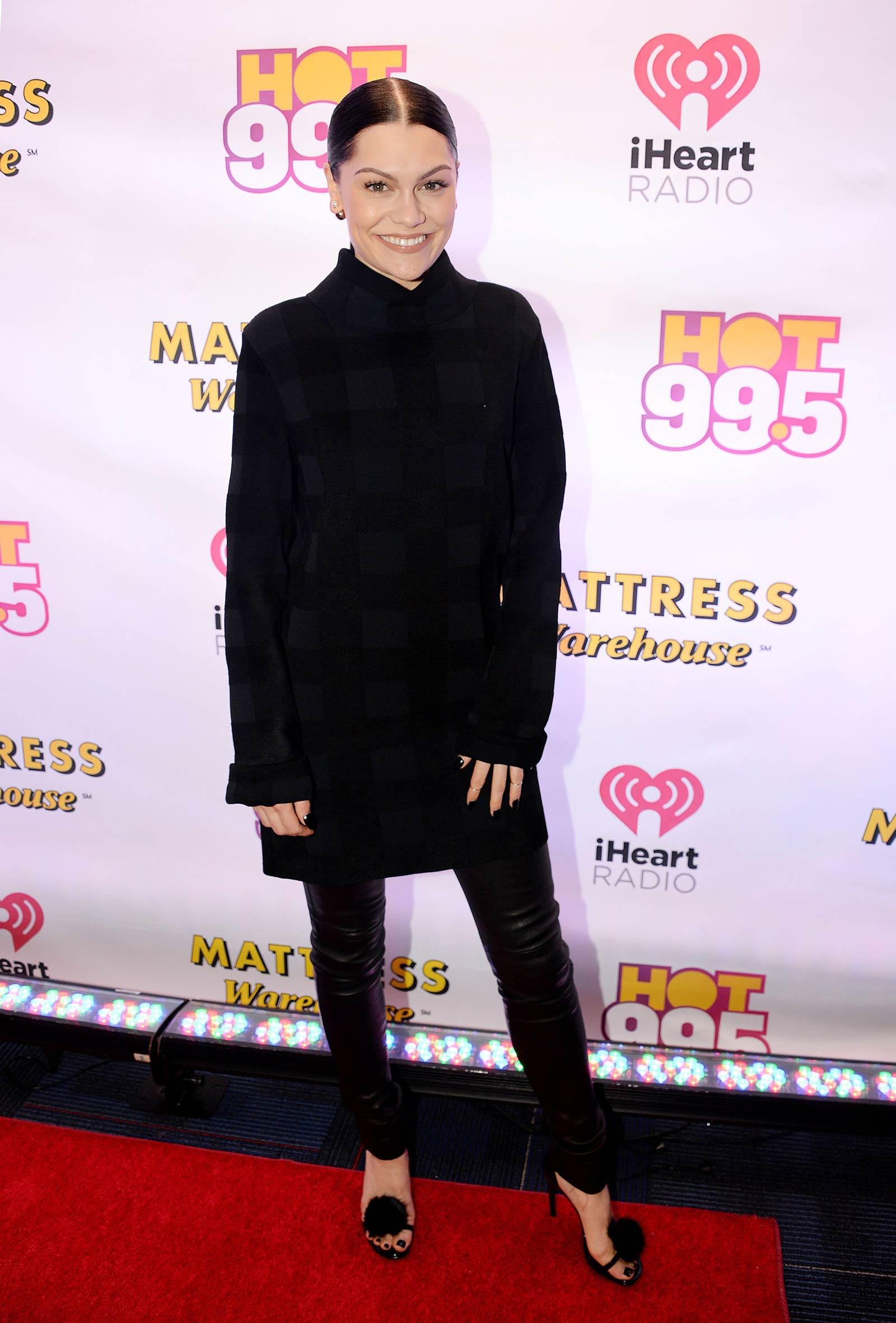 Jessie J attends HOT 99.5 Jingle Ball 2014